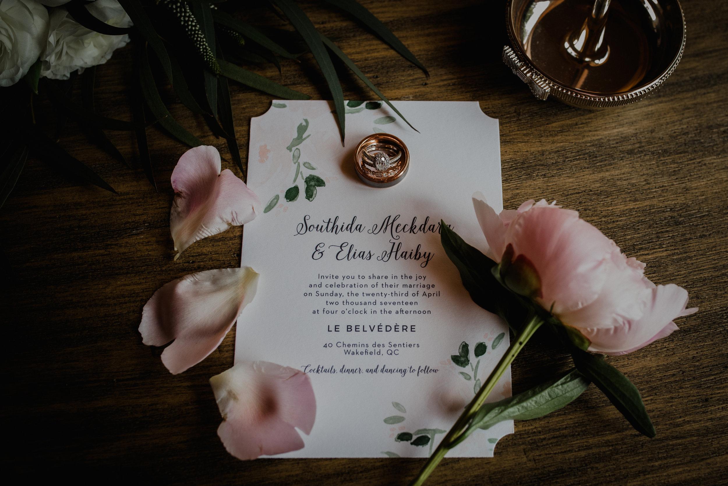 Le Belvedere, Wakefield Wedding - Wedding Invitation