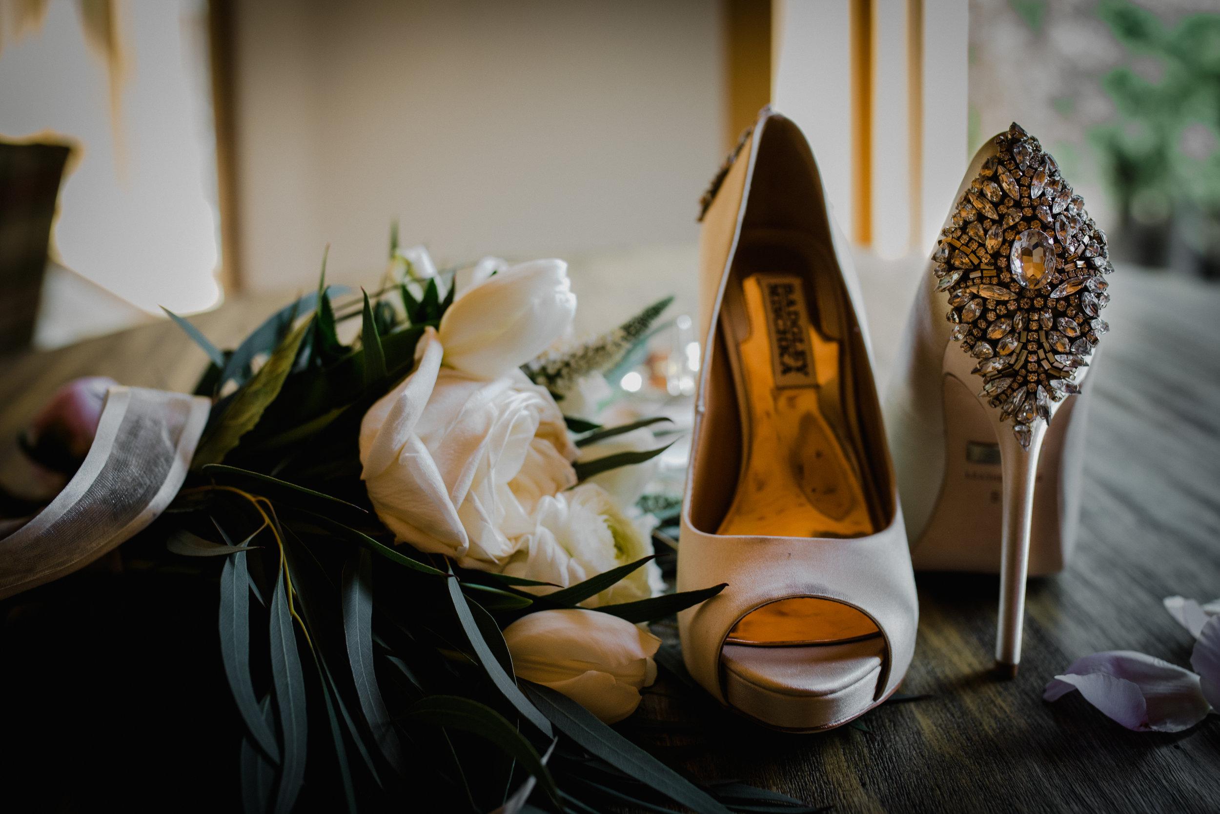 Le Belvedere, Wakefield Wedding - Wedding Shoes