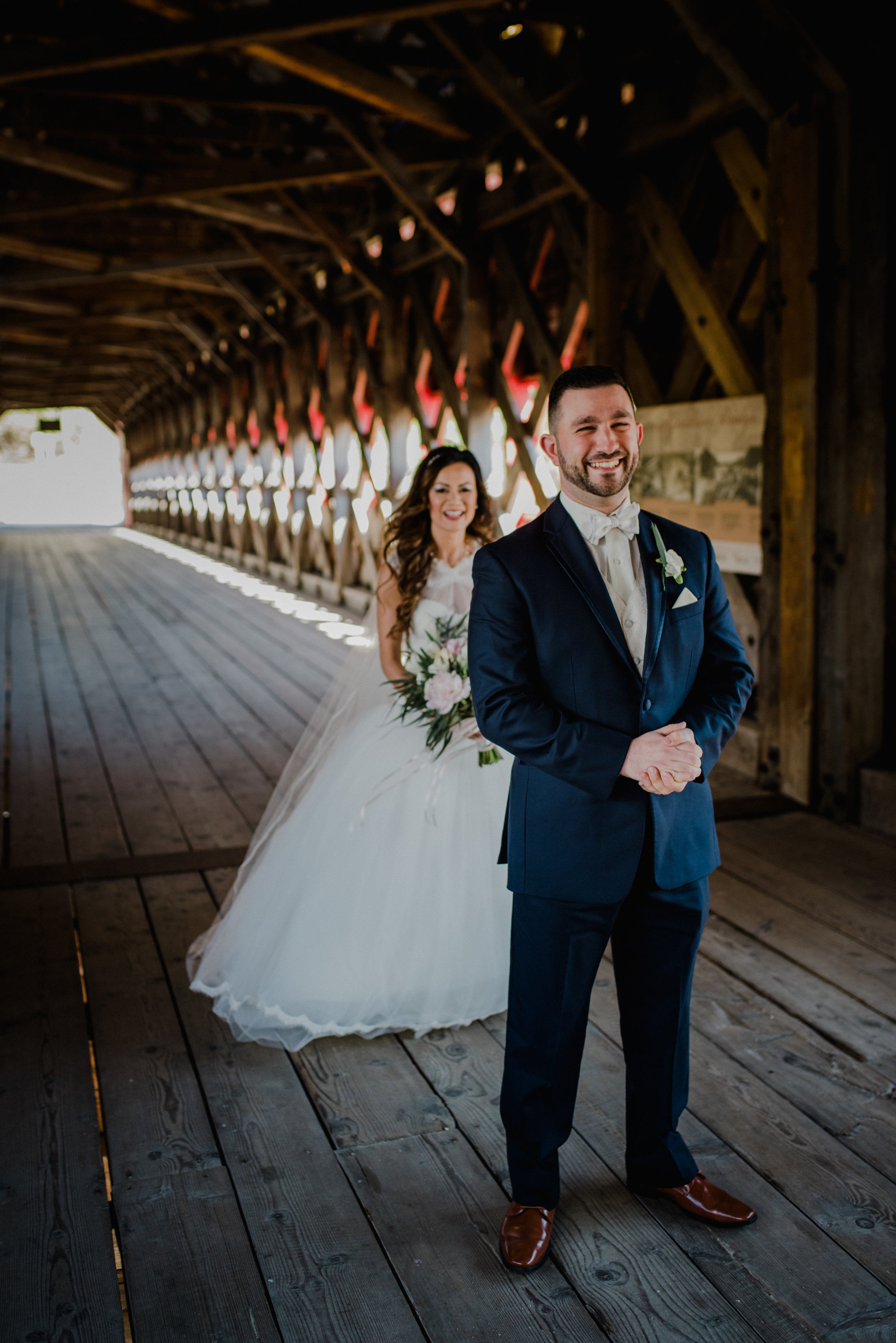 Le Belvedere, Wakefield Wedding - Firs Look
