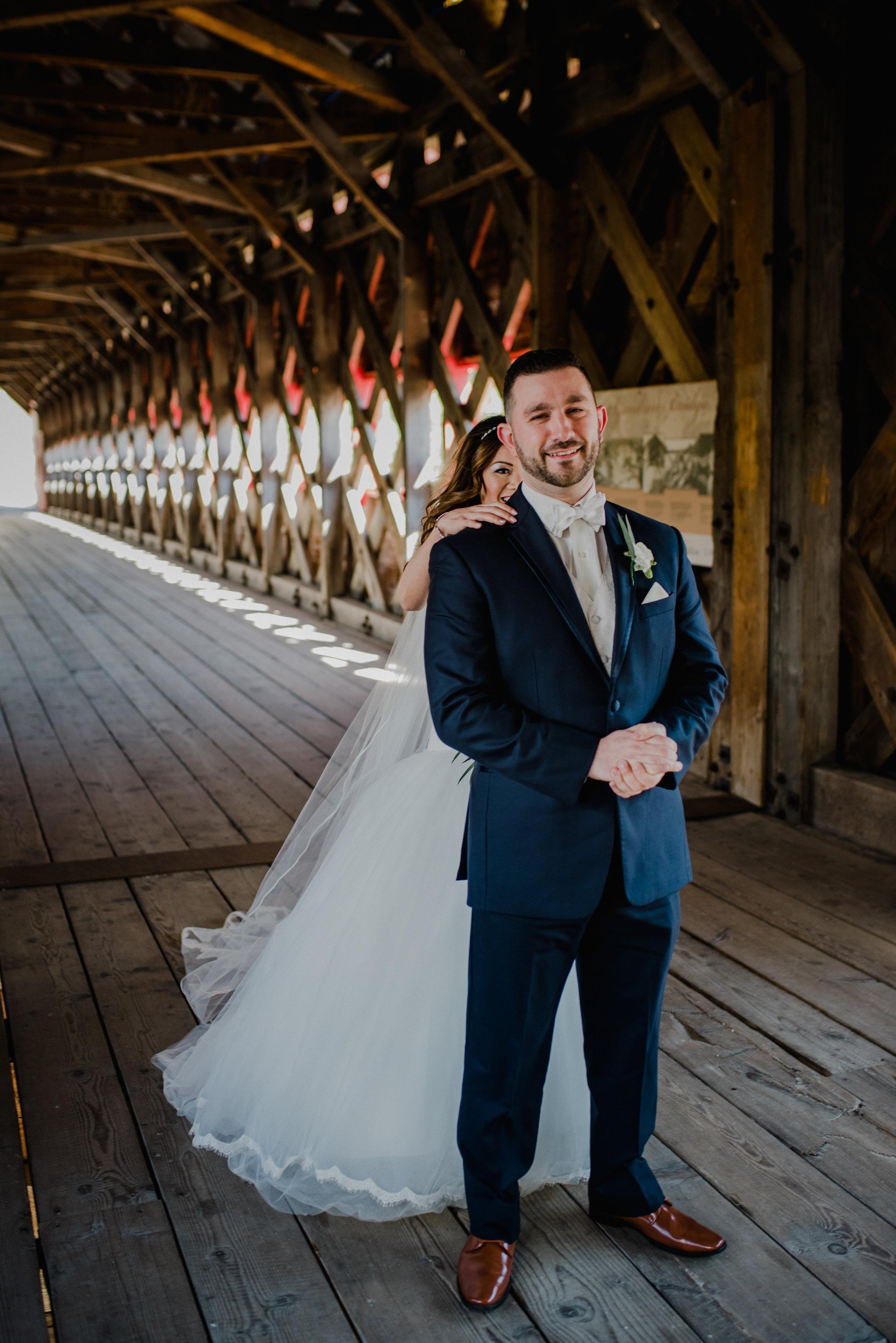 Le Belvedere, Wakefield Wedding - Firs Look 1