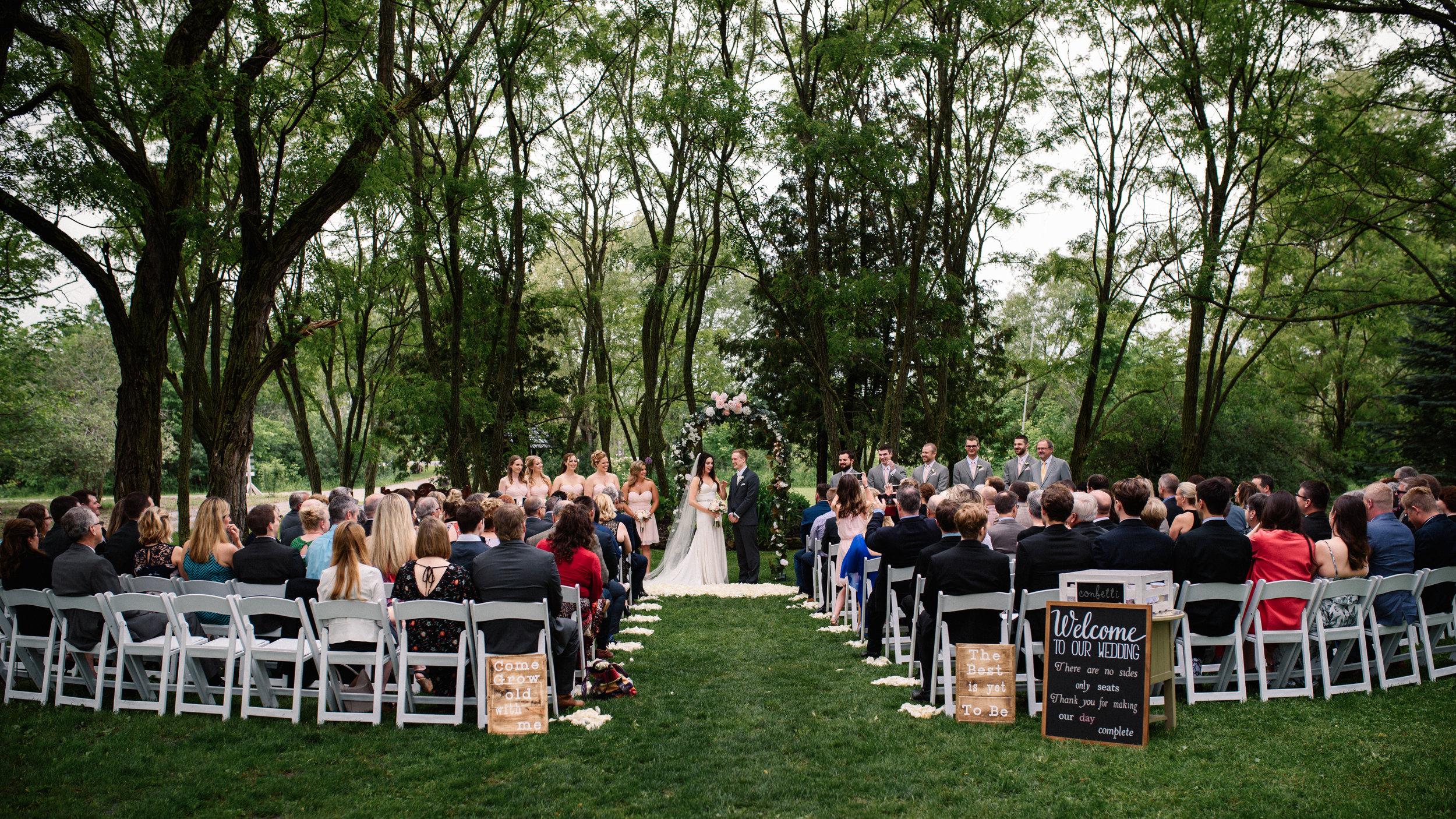 Stonefields Outdoor Ceremony Wedding
