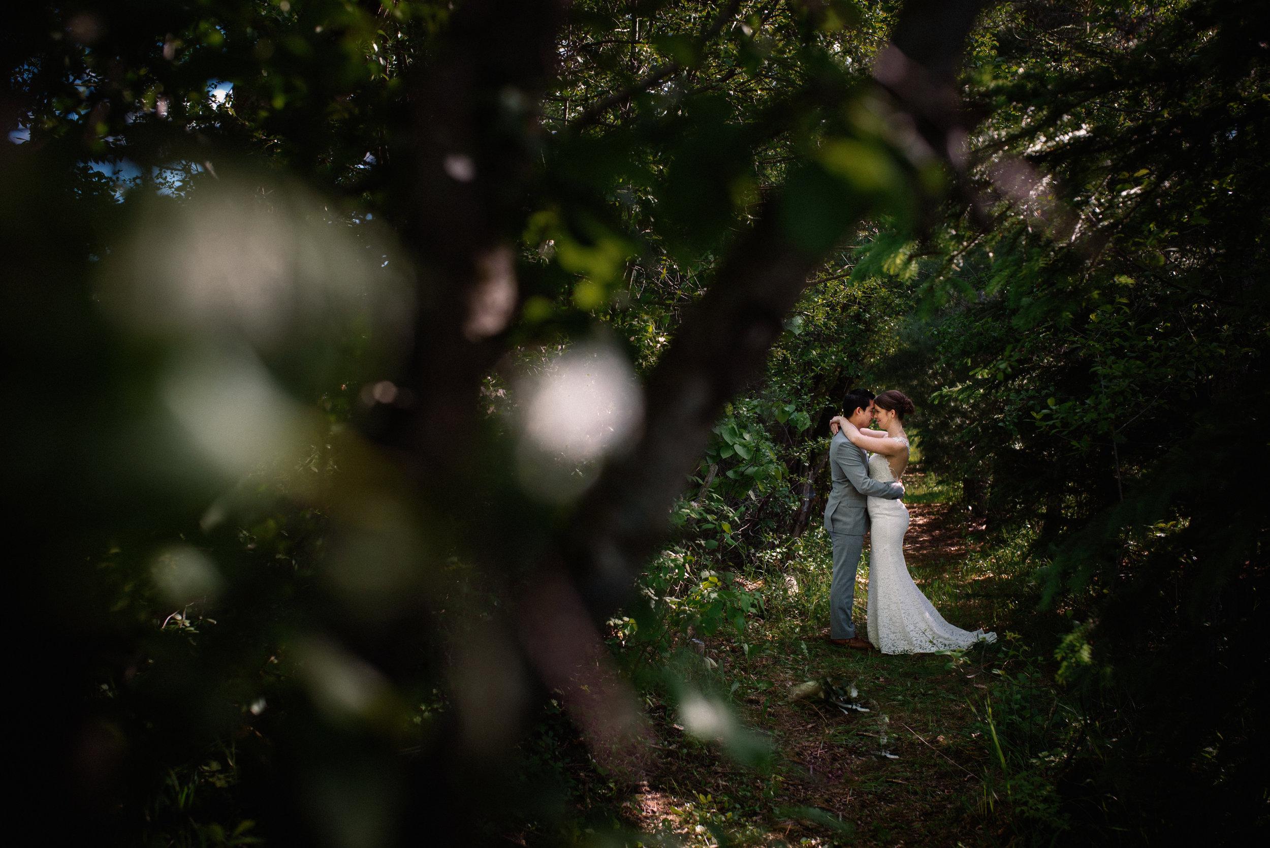 Herb Garden Wedding Portrait