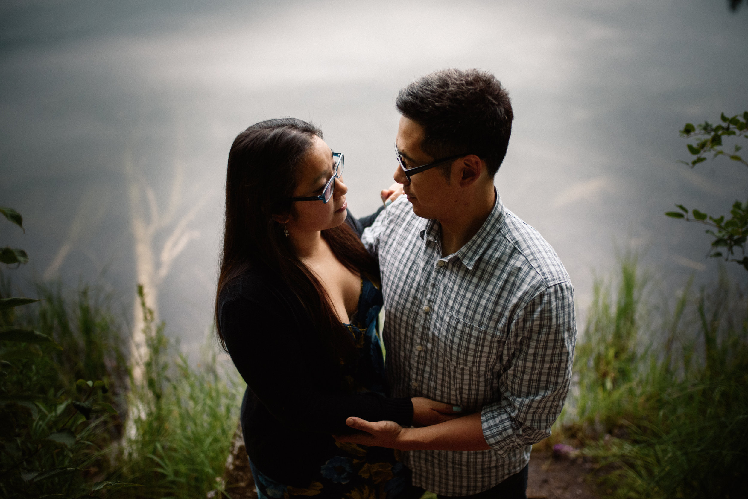 Mocha Tree Studios Ottawa Wedding and Engagement Photographer and Videographer Dark Moody Intimate Authentic Modern Romantic Cinematic Best Candid Pink Lake Engagement 7