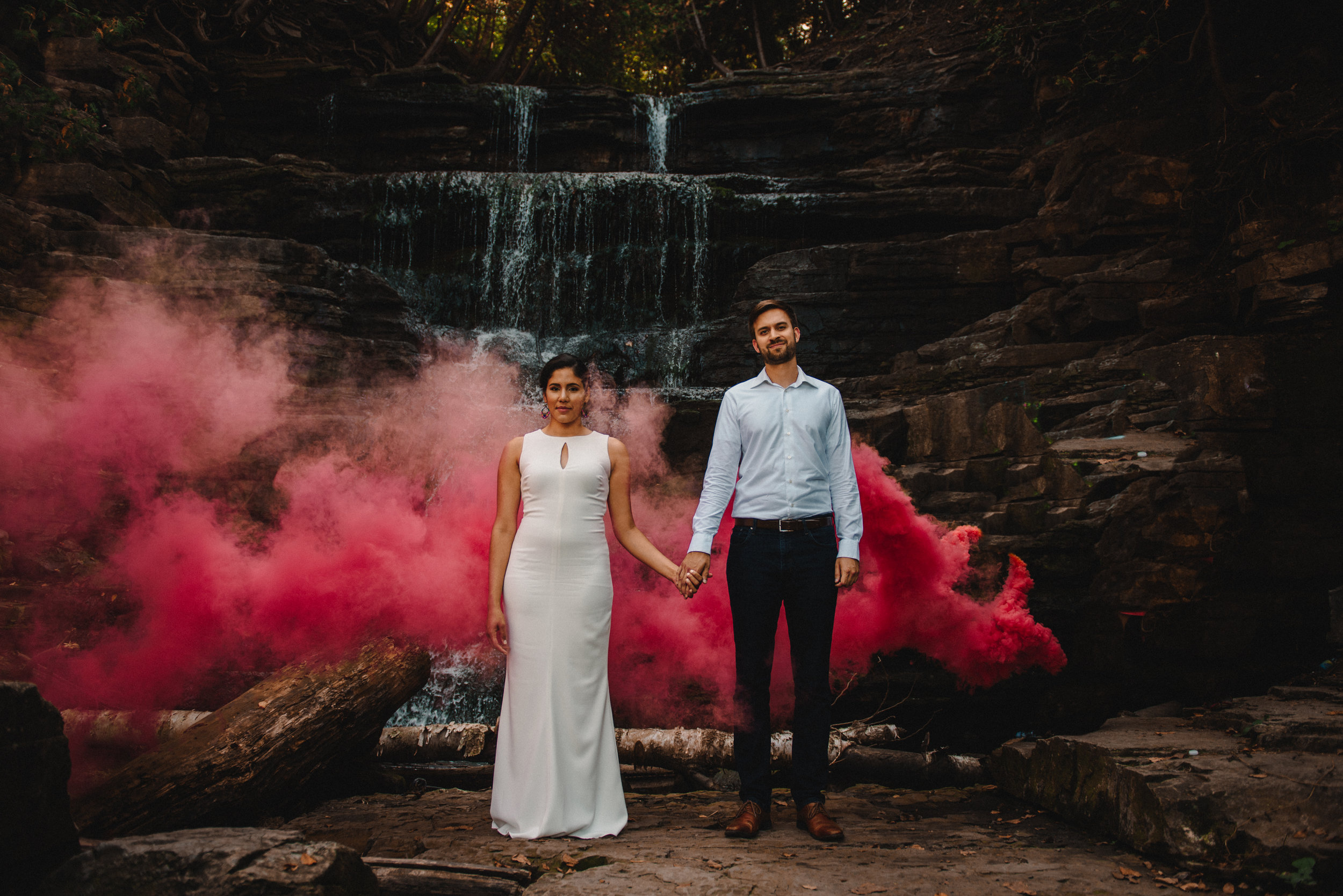 Mocha Tree Studios Ottawa Wedding and Engagement Photographer and Videographer Dark Moody Intimate Authentic Modern Romantic Cinematic Best Candid Princess Louise Falls 5