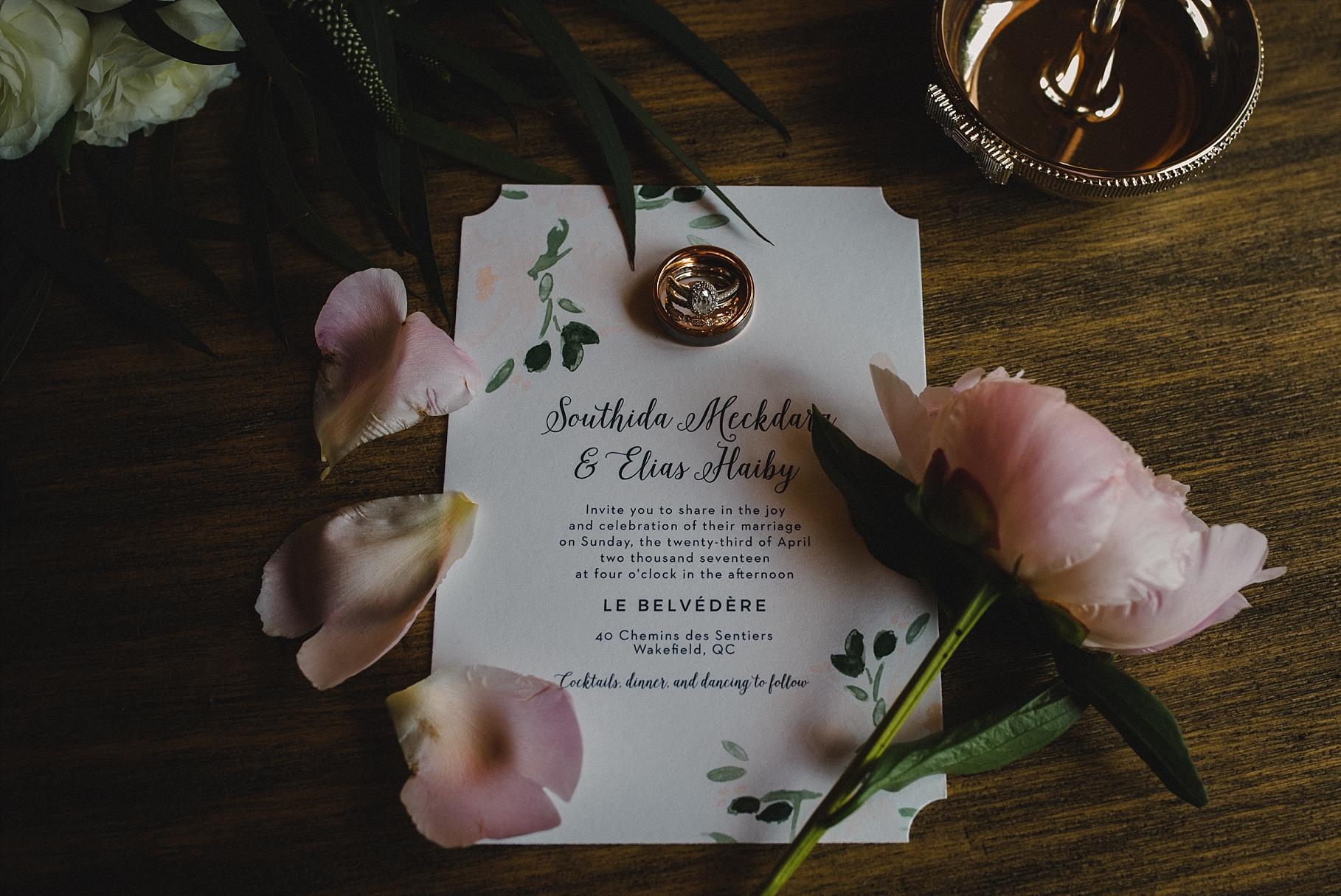 Le Belvedere Wedding invitation