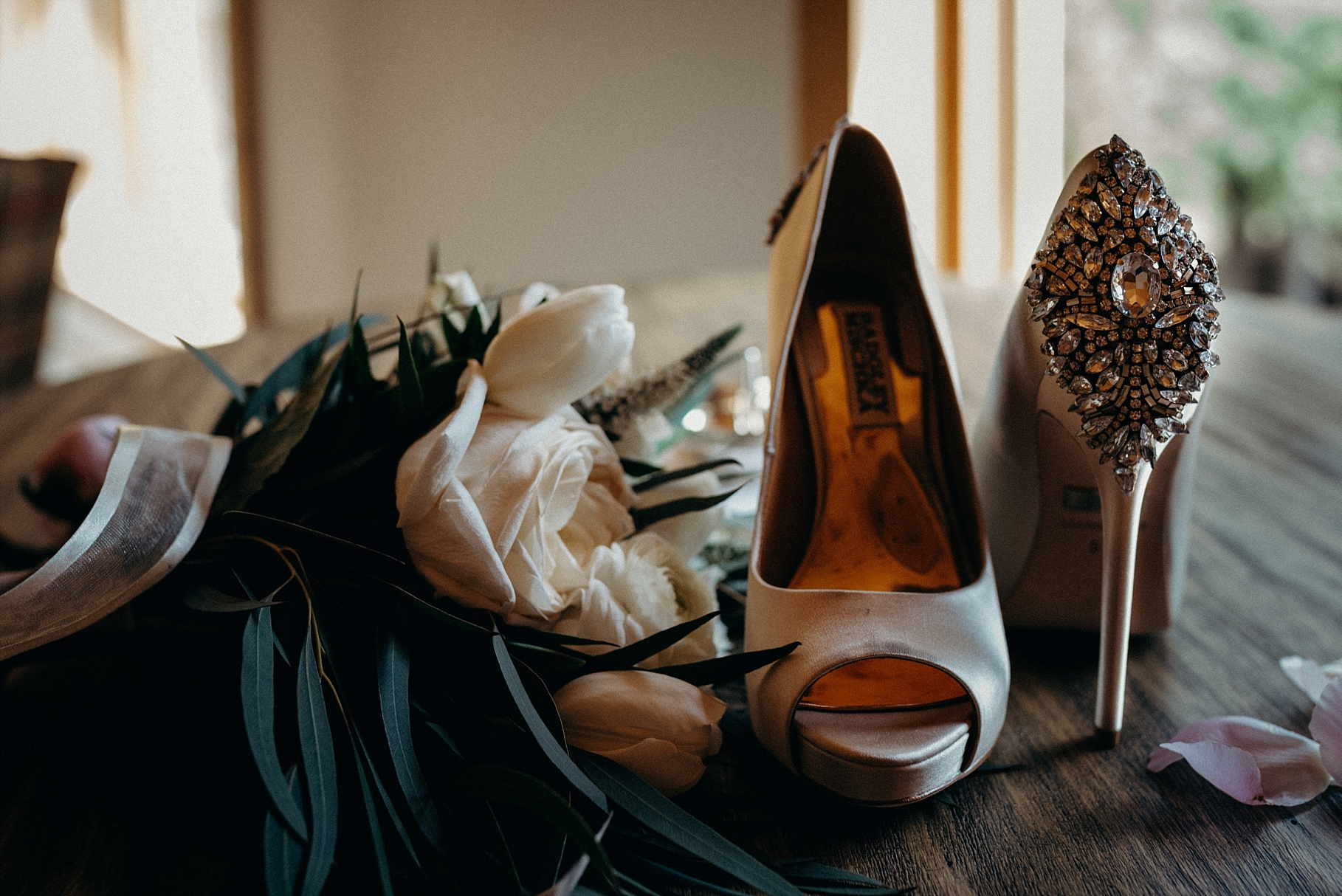 Mocha Tree Studios Ottawa Wedding and Engagement Photographer and Videographer Dark Moody Intimate Authentic Modern Romantic Cinematic Best Candid Wedding Shoes Badgley Mischka