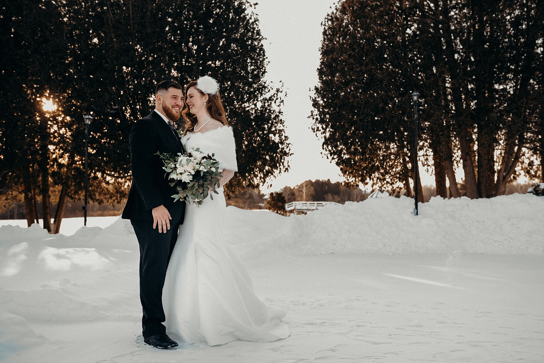 Orchard View Wedding by Mocha Tree Studios Ottawa Wedding and Engagement Photographer and Videographer Dark Moody Intimate Authentic Modern Romantic Cinematic Best Candid 18 winter