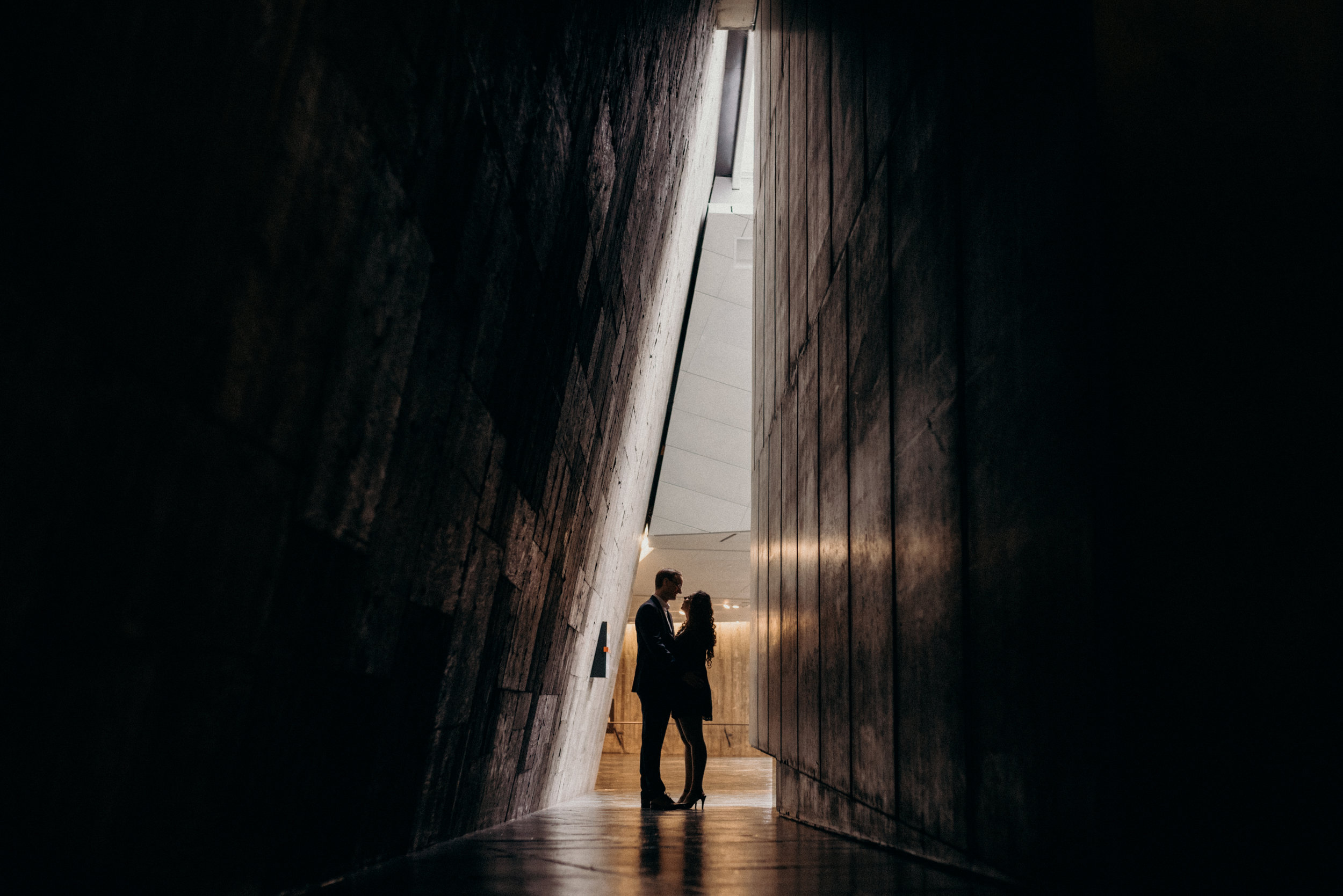War Museum Engagement Picture Mocha Tree Studios Ottawa Toronto Montreal Wedding and Engagement Photographer and Videographer Dark Moody Intimate Authentic Modern Romantic Cinematic Best Candid 1