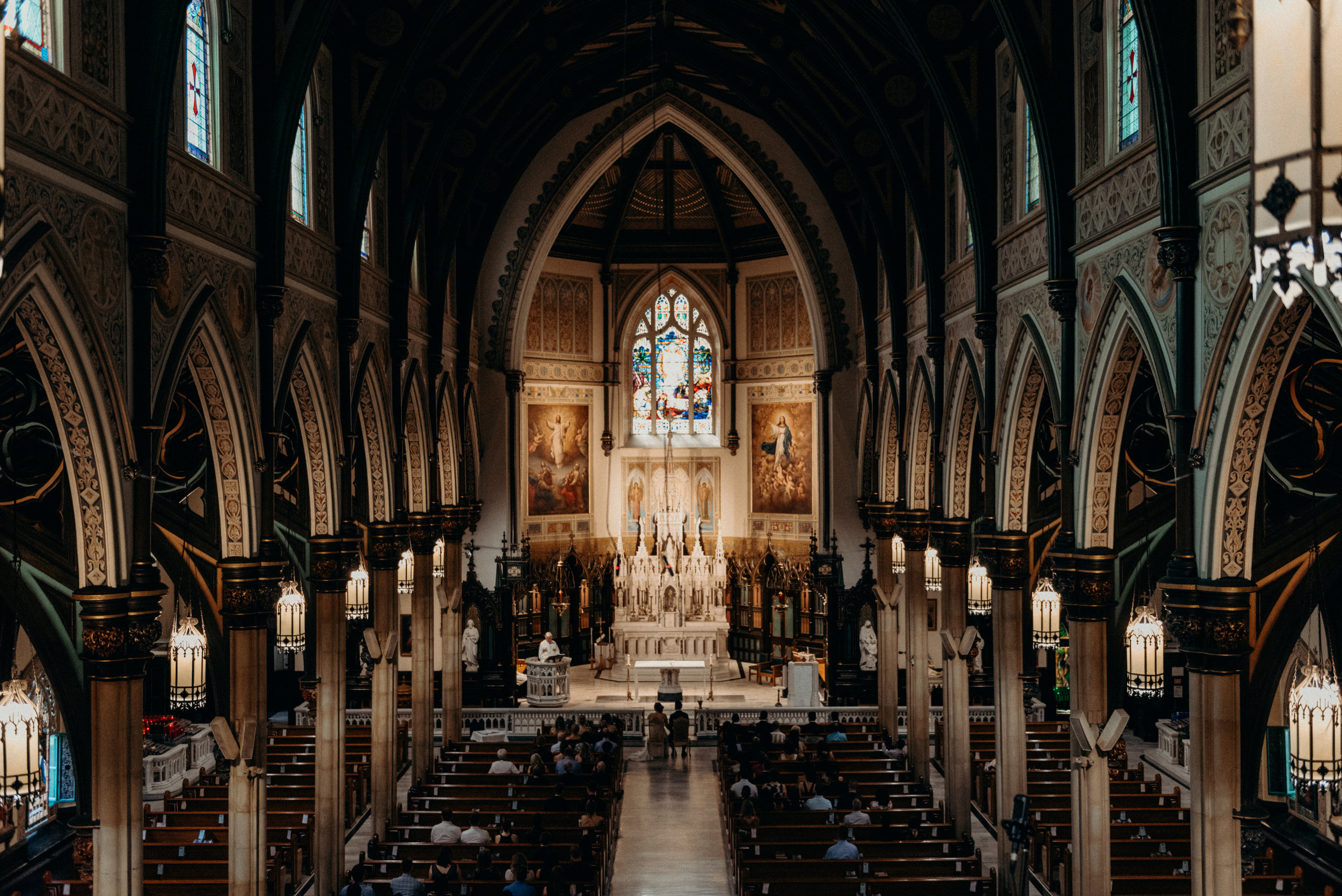 Dan and Kelsey  wedding ceremony Ottawa Basilica Notre Dame
