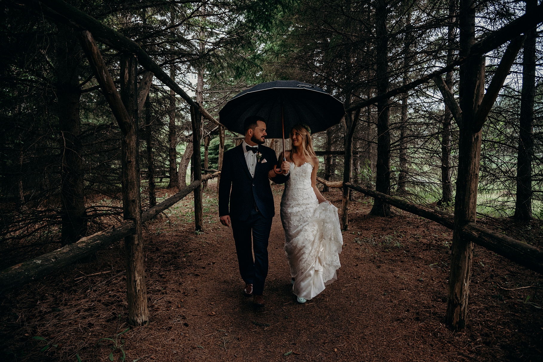 Jill and Donny Wedding Saunder's Farm Ottawa Walk Down the Aisle