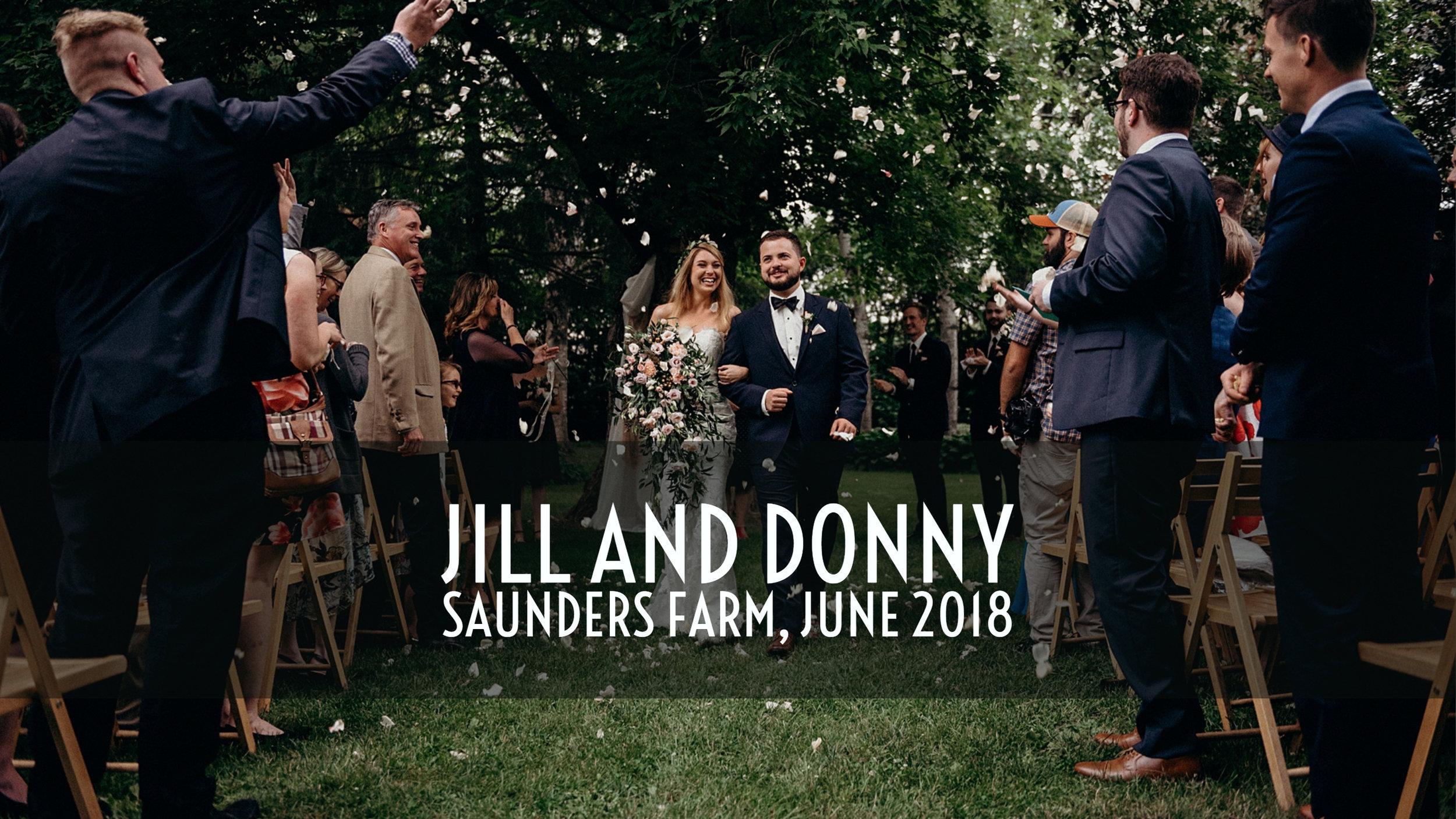 Jill and Donny Wedding Saunder's Farm Ottawa