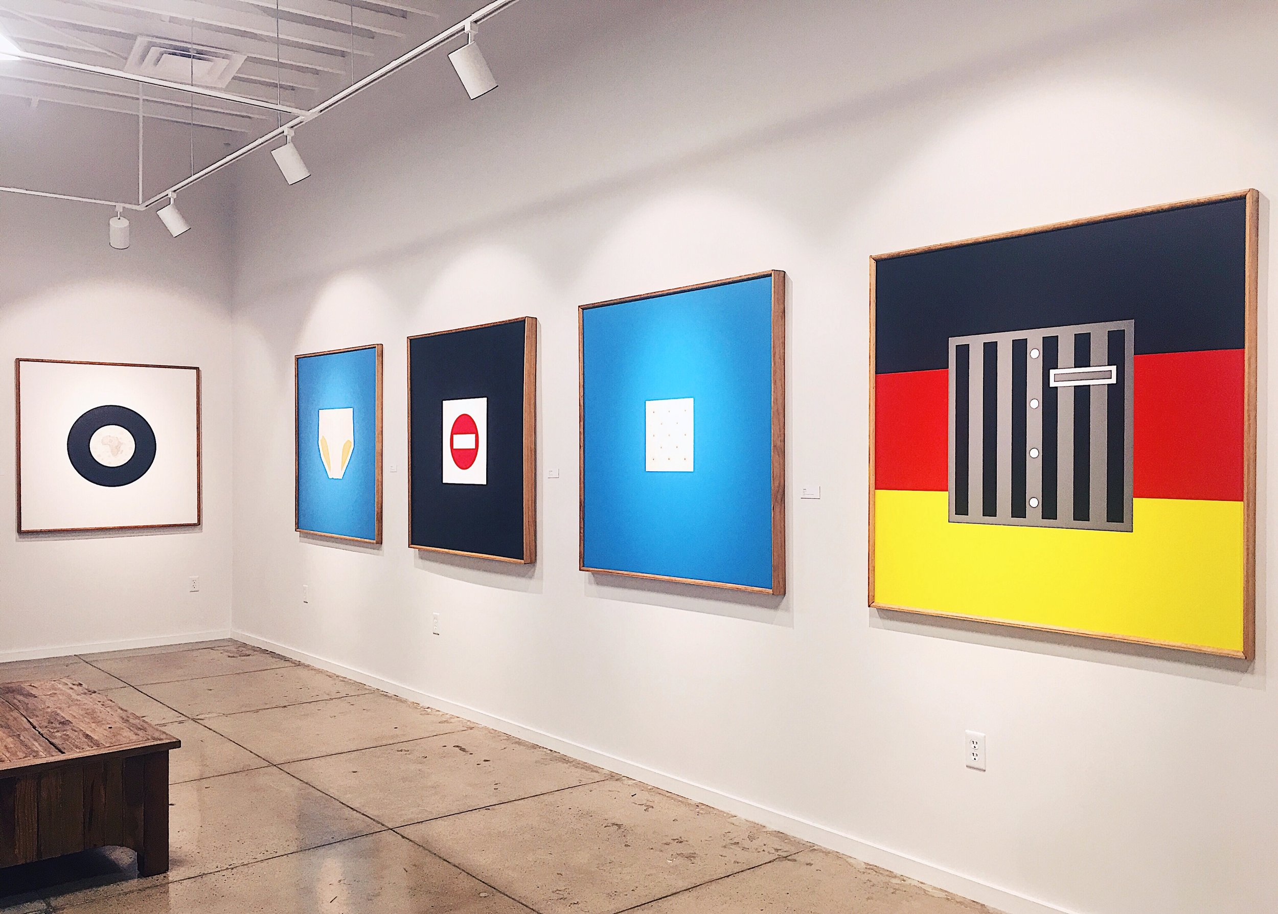 "Exhibition view of ""Awakening"",  paintings by Milan Tiff"