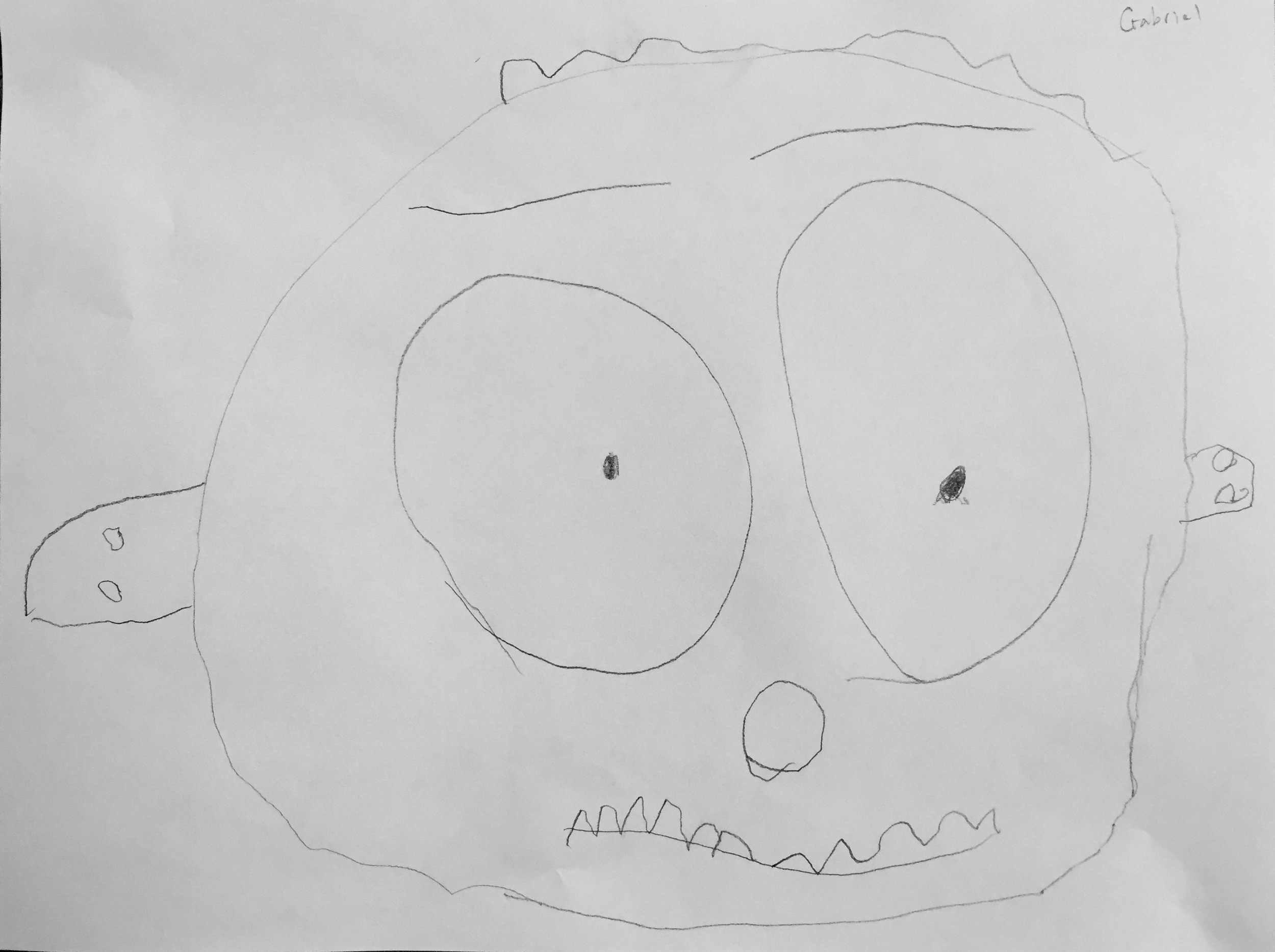 Portrait of me, drawn by my son. I'd say it is pretty accurate, most days.