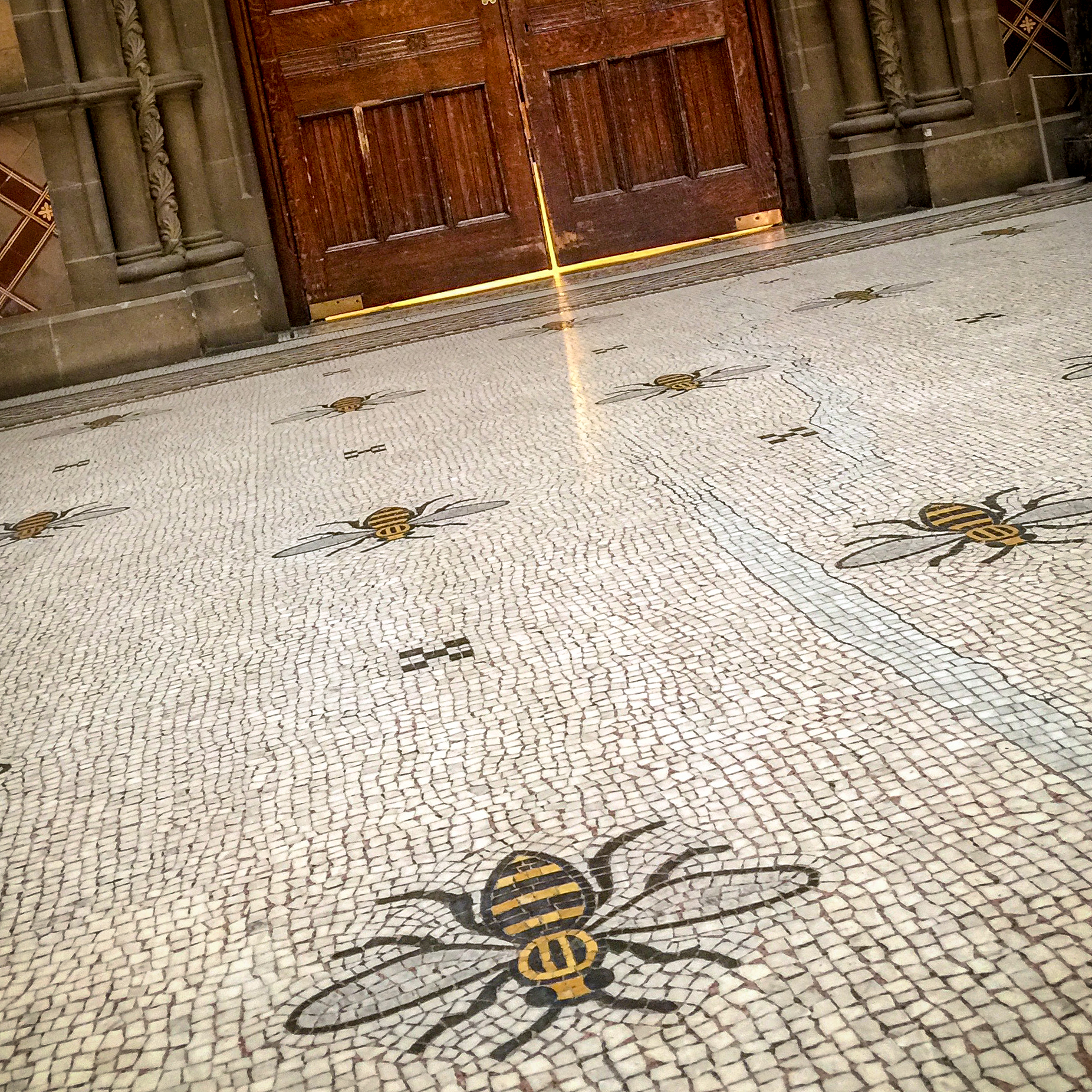 Manchester Town Hall's  mosaic flooring.