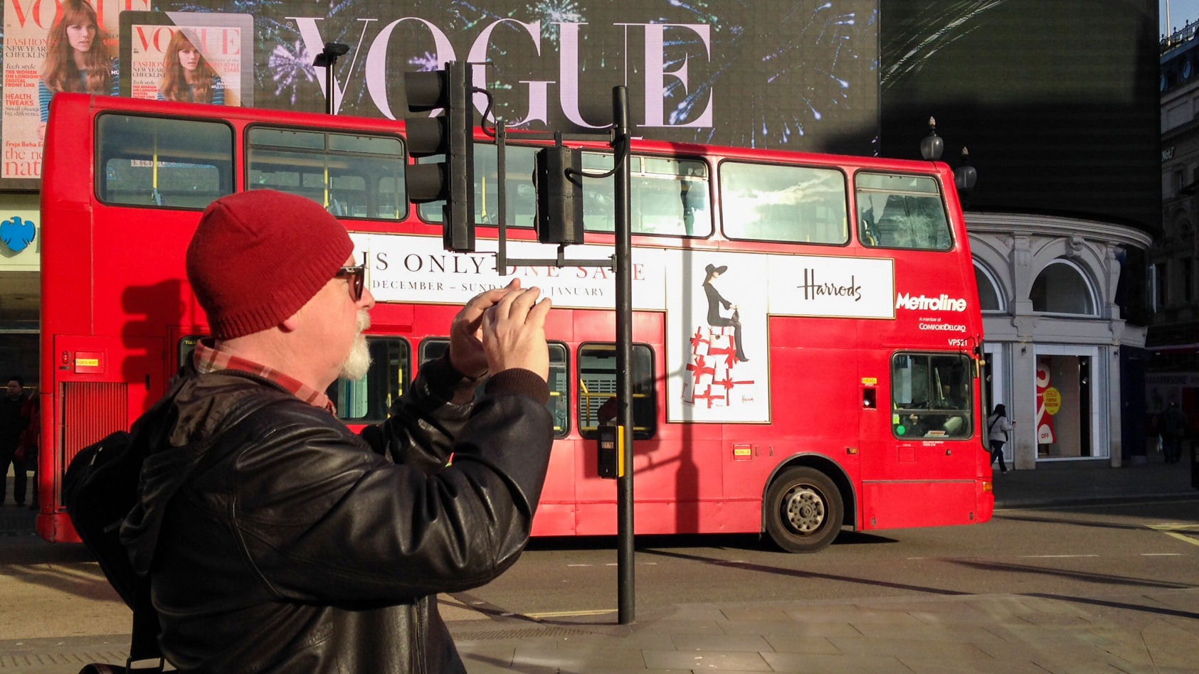 Adrian McGarry taking iPhone images on the streets of London