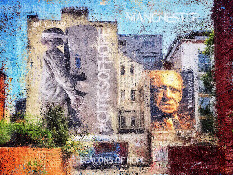 Manchester Cities of Hope Tribute by Adrian McGarry. Created with iOS apps. © Adrian McGarry.