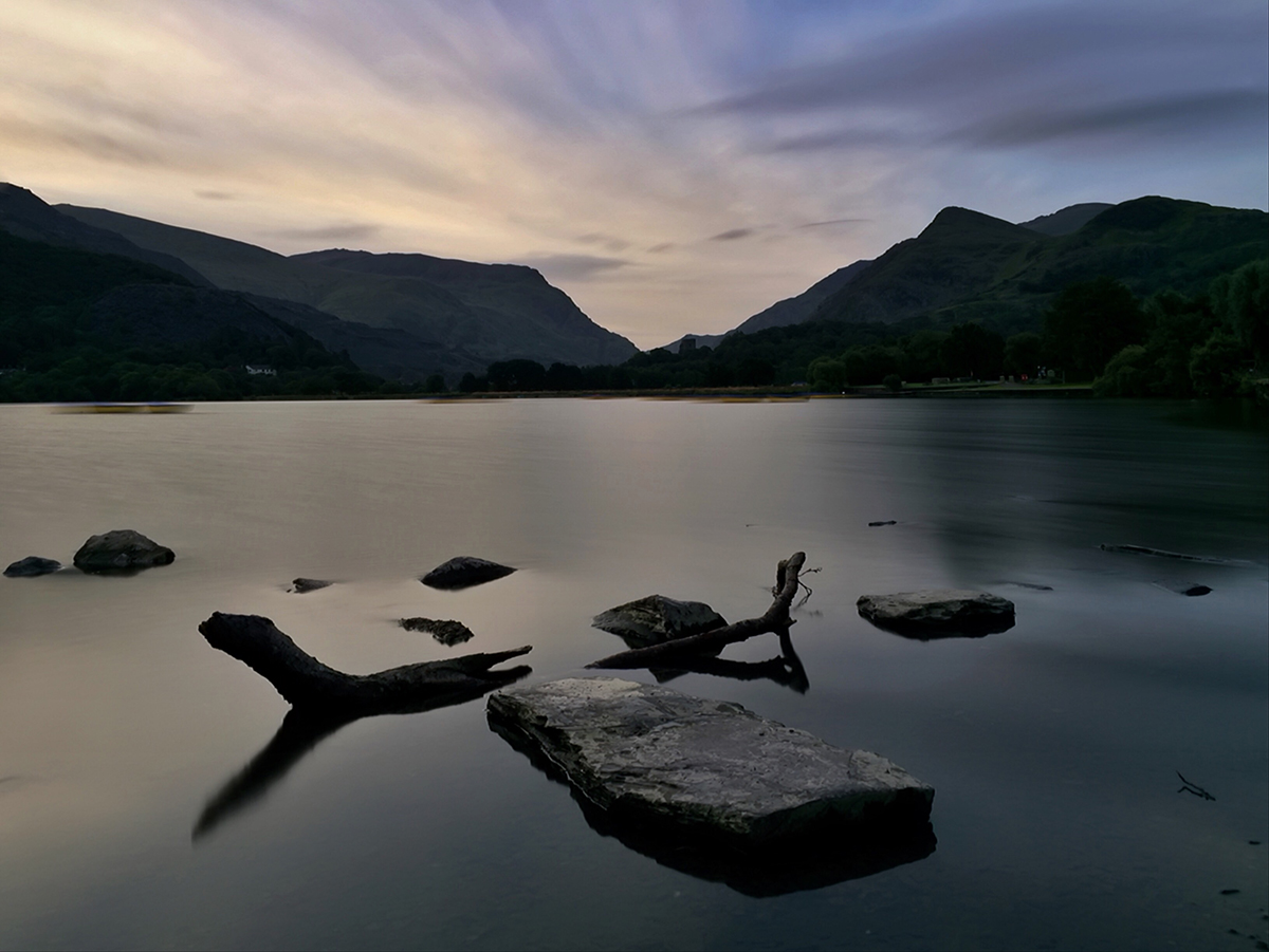 Lake Padarn Sunrise. iPhone 6 Plus image. Long exposure image. © Adrian McGarry.