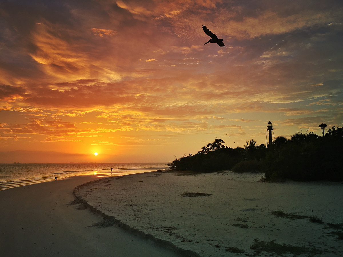 Sanibel Sunrise. Keep your camera steady in lowlight conditions. © Adrian McGarry.