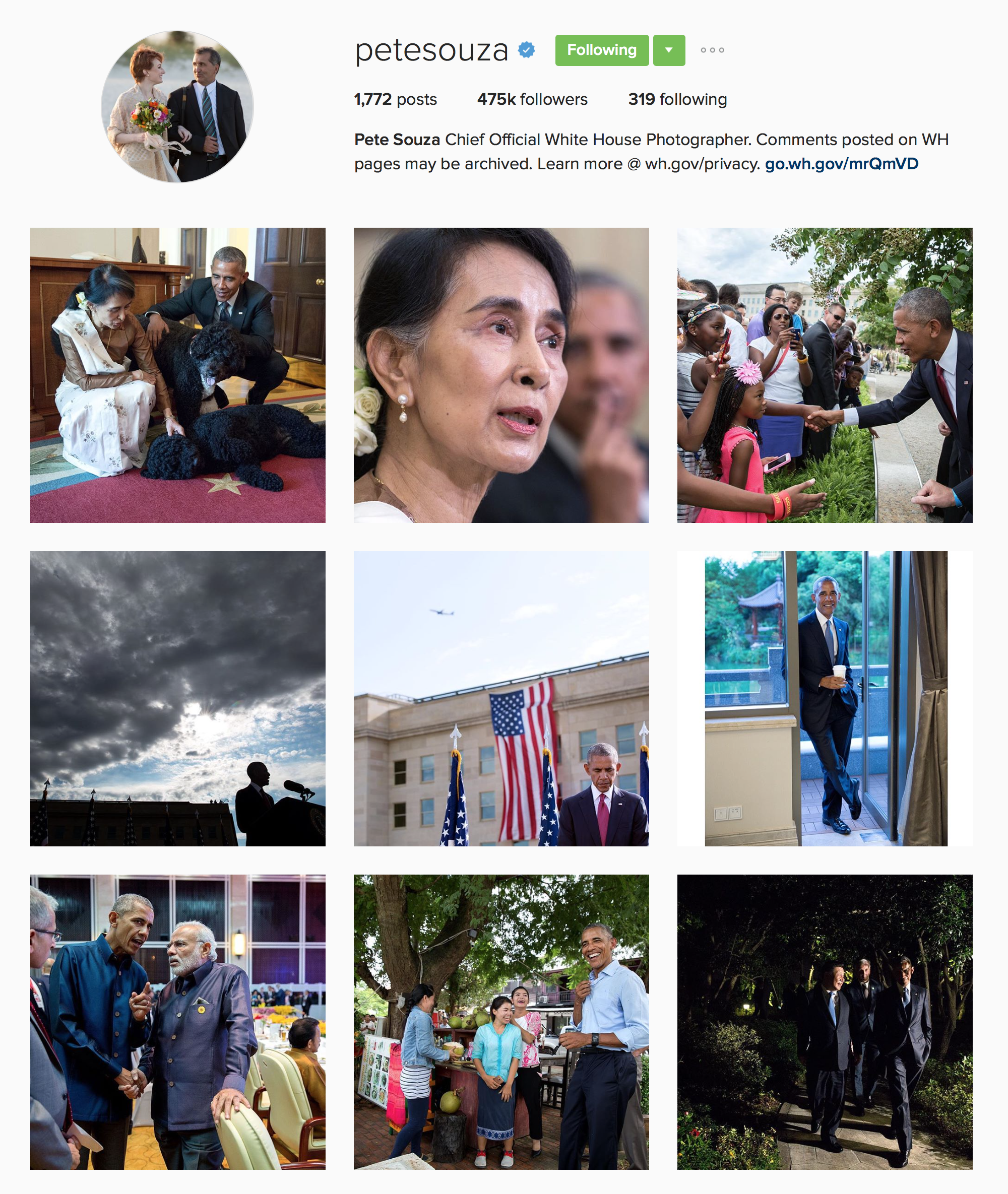 Pete Souza on Instagram