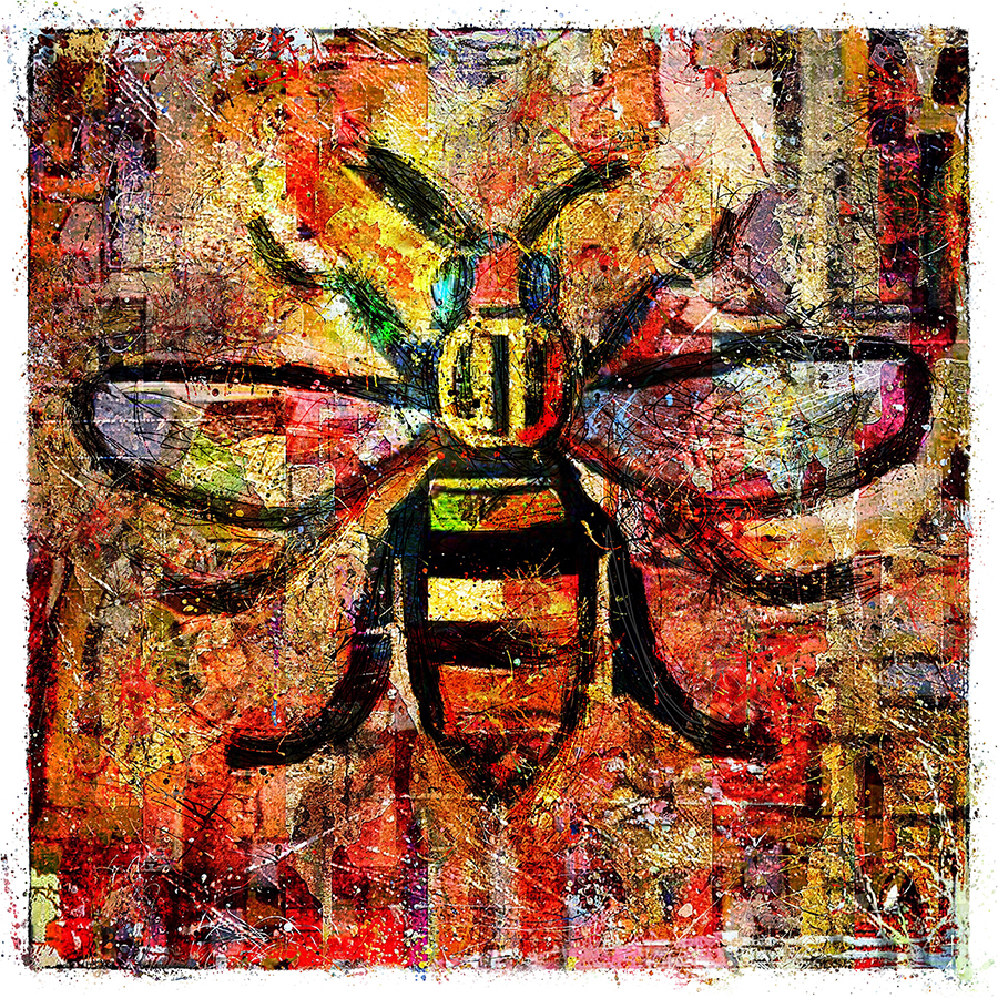Manchester Worker Bee Art by Adrian McGarry. © Adrian McGarry.