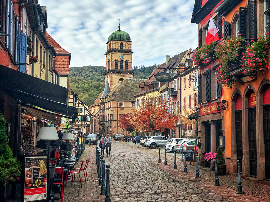 The historic centre of Kaysersberg is very attractive