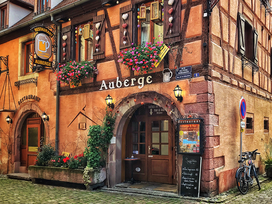 The traditional taverns of Alsace always have a warm welcome