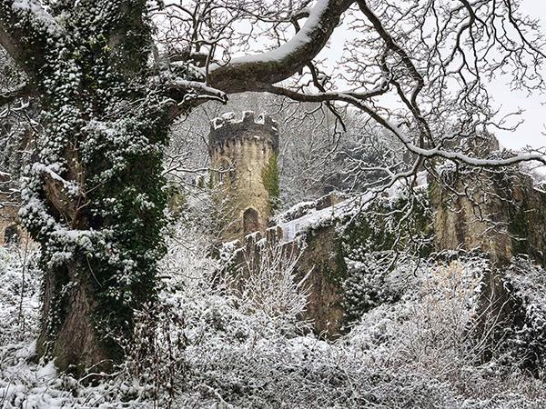 Gwrych castle beautiful in winter