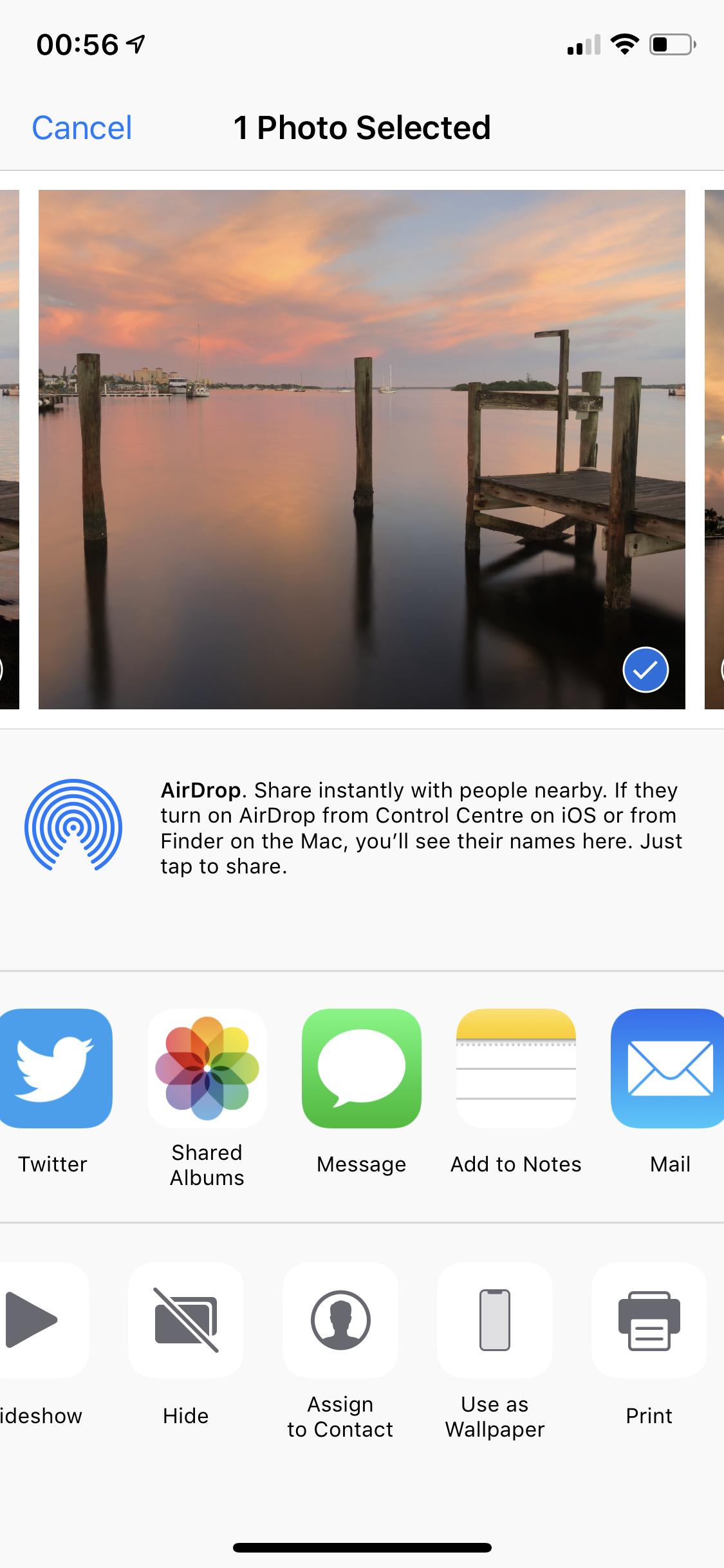 Hide iOS Photos Step 2