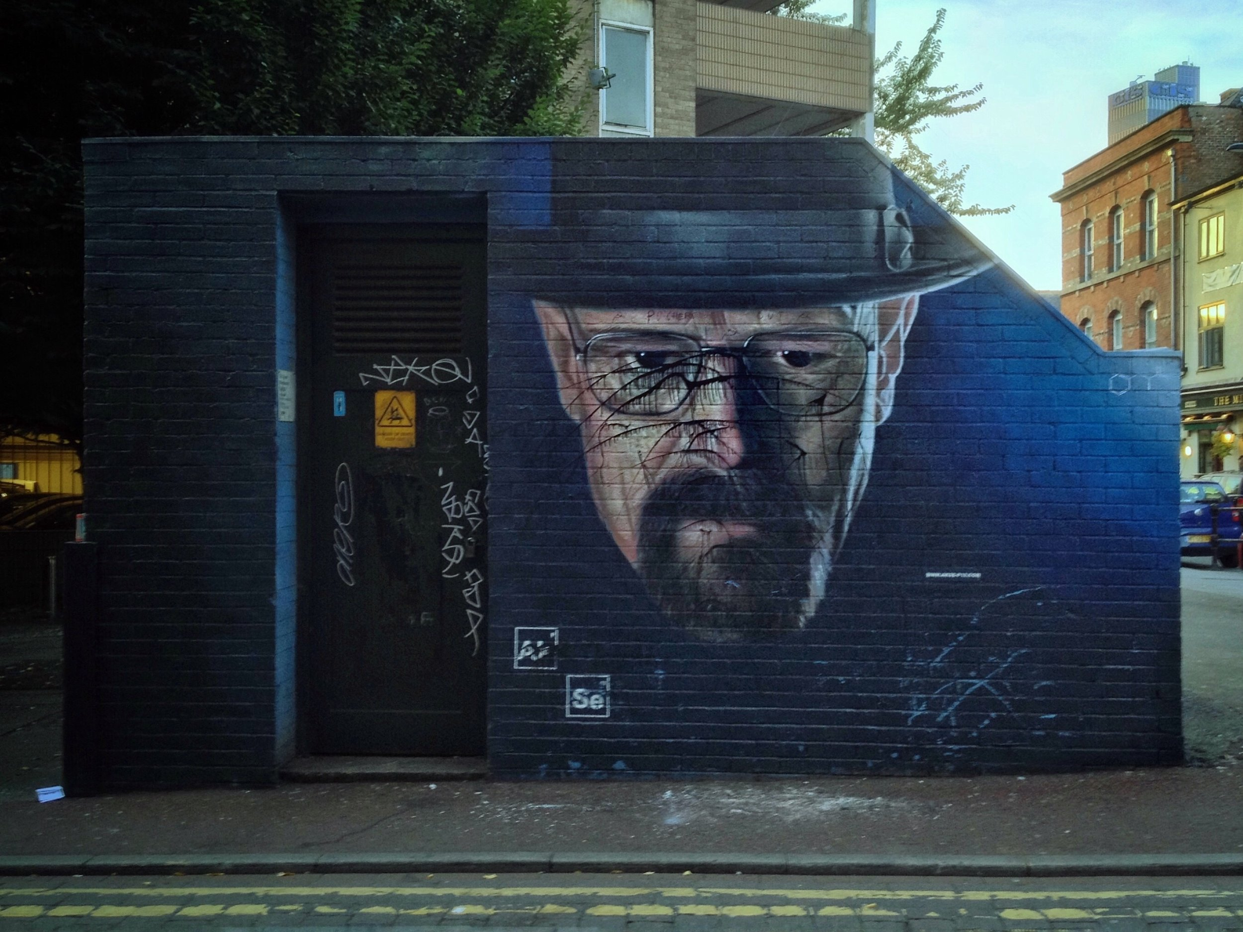 Heisenberg was quickly defaced.