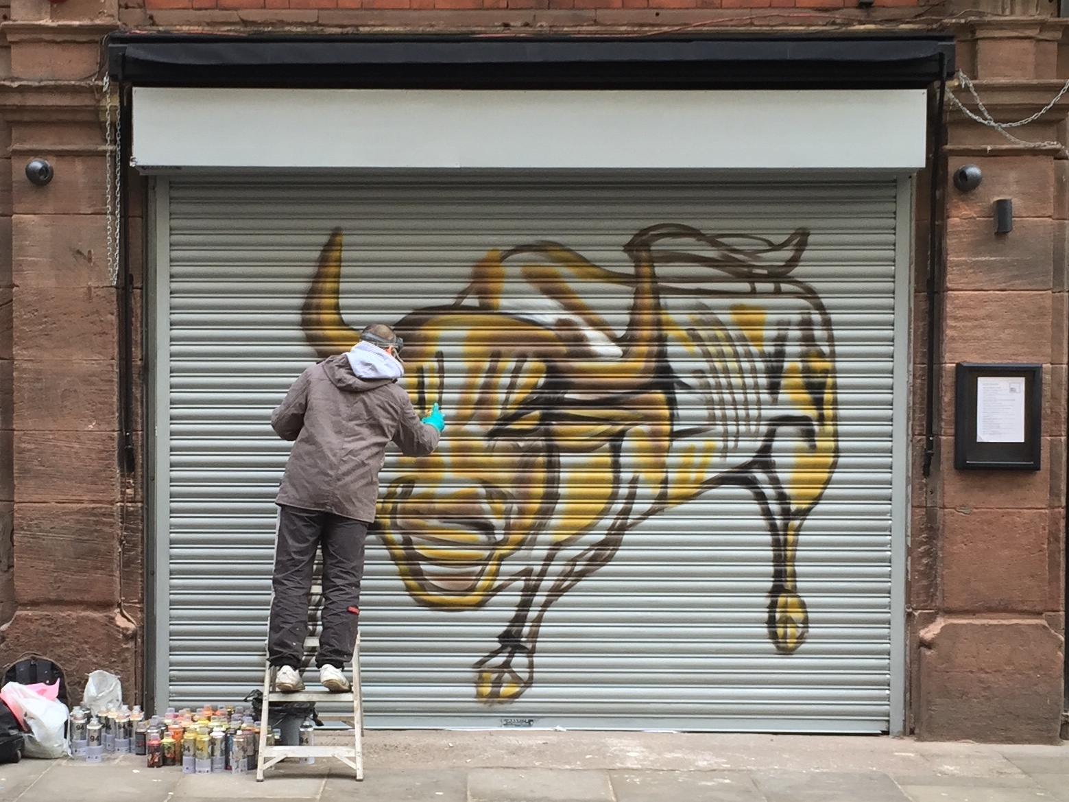 In 2015 I photographed Akse putting creating 'The Bull of Tib Street', commissioned by the Butcher's Quarter.