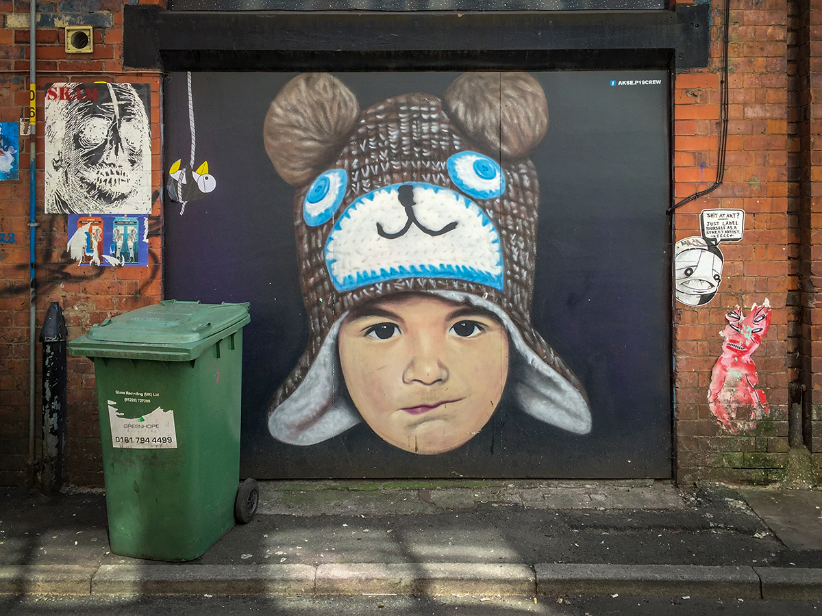I photographed 'Mikel' on Spear Street in the Northern Quarter (now boarded over).