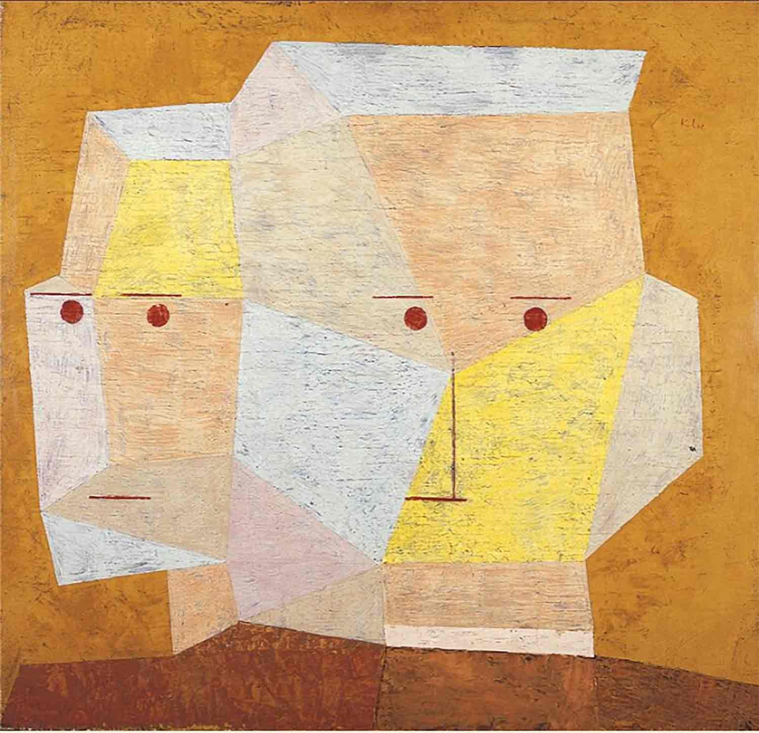 """""""Two Heads"""" by Paul Klee"""