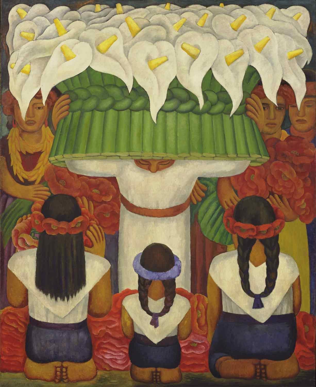 """Flower Festival"" by Diego Rivera"