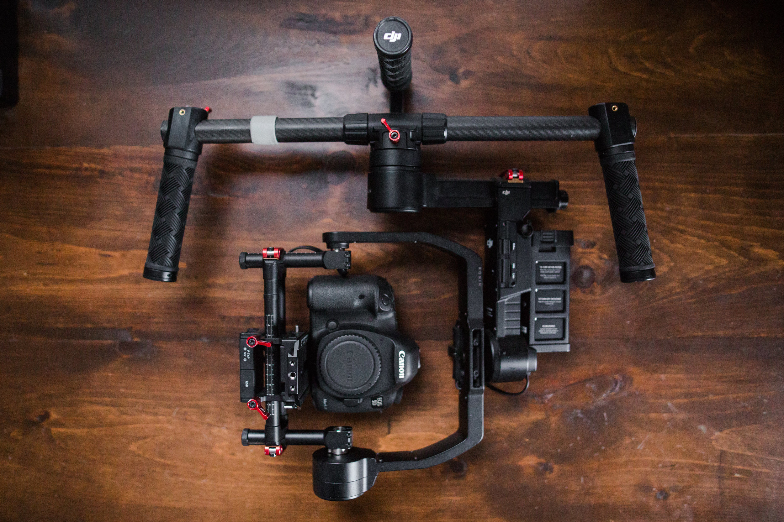The DJI RoninM and the Canon Mark III are a perfect match for me. The RoninM delivers extremely smooth footage and in a compact, lightweight form factor.  Perfect for wedding filmmaking.