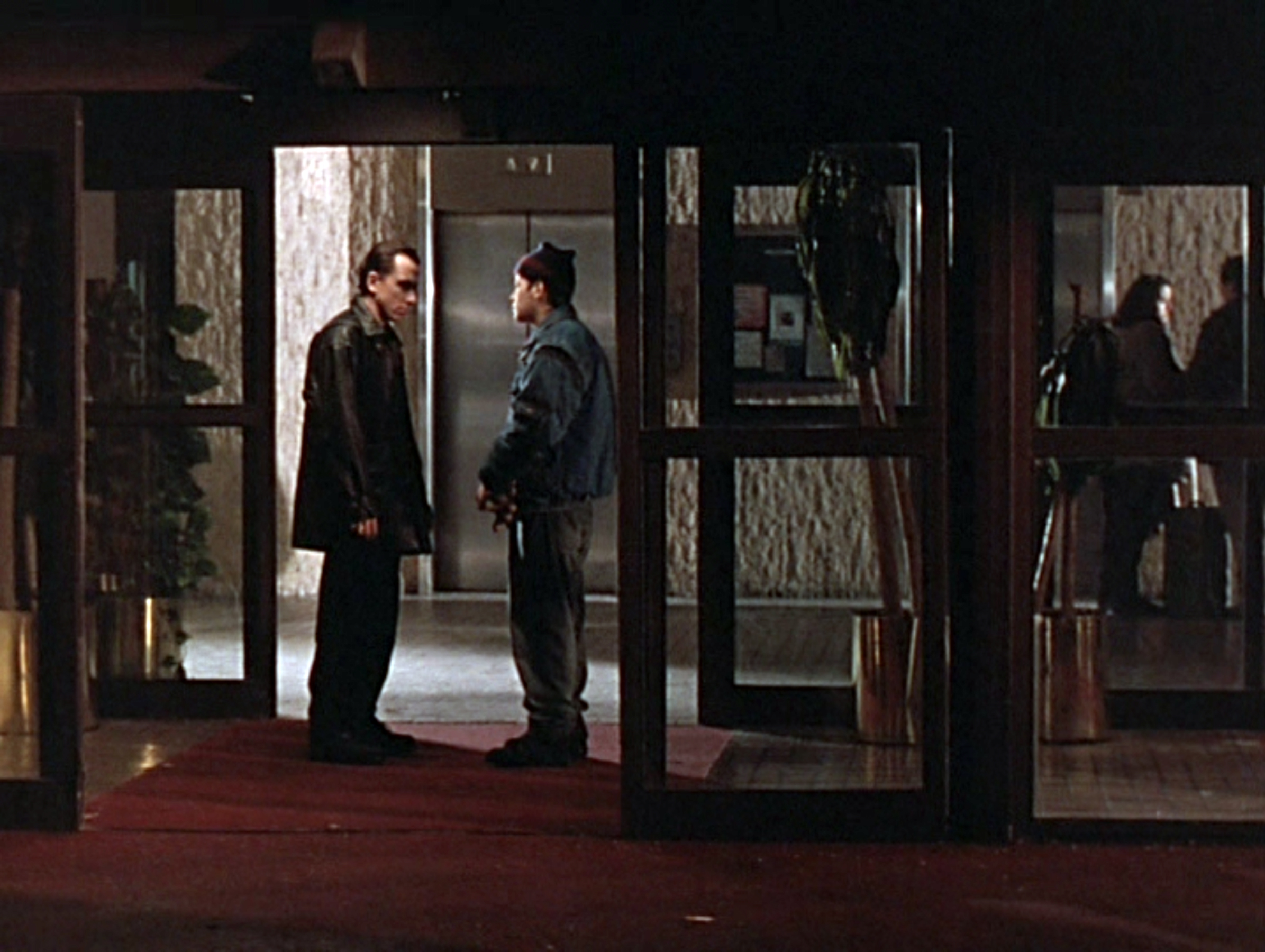 Reuben confronts Josh (Tim Roth) when he learns he's returned to the neighborhood