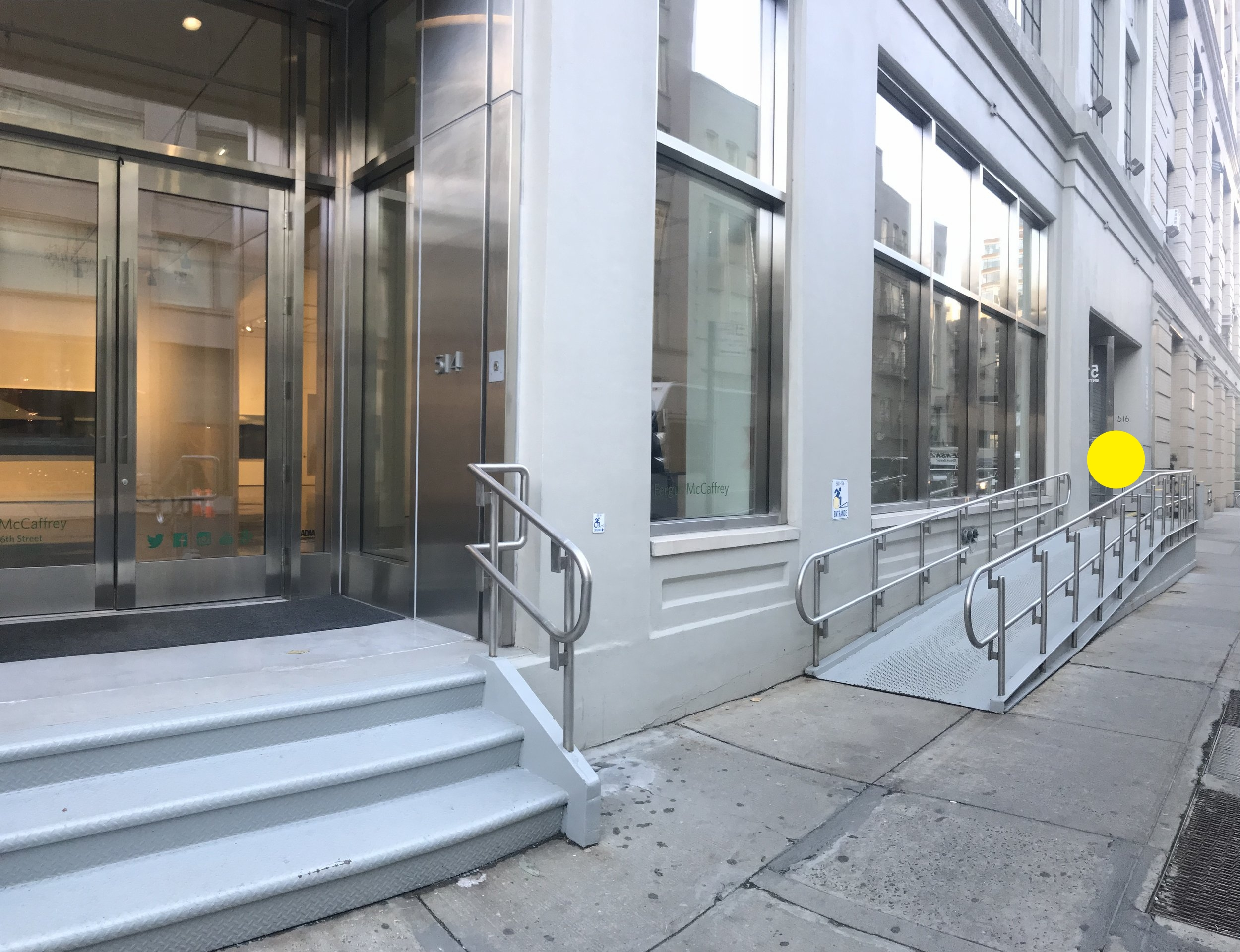 Freight entrance at 516 West 26th Street