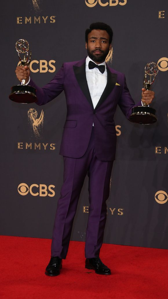 Donald Glover - I think having Emmys in both hands can complete any outfit!