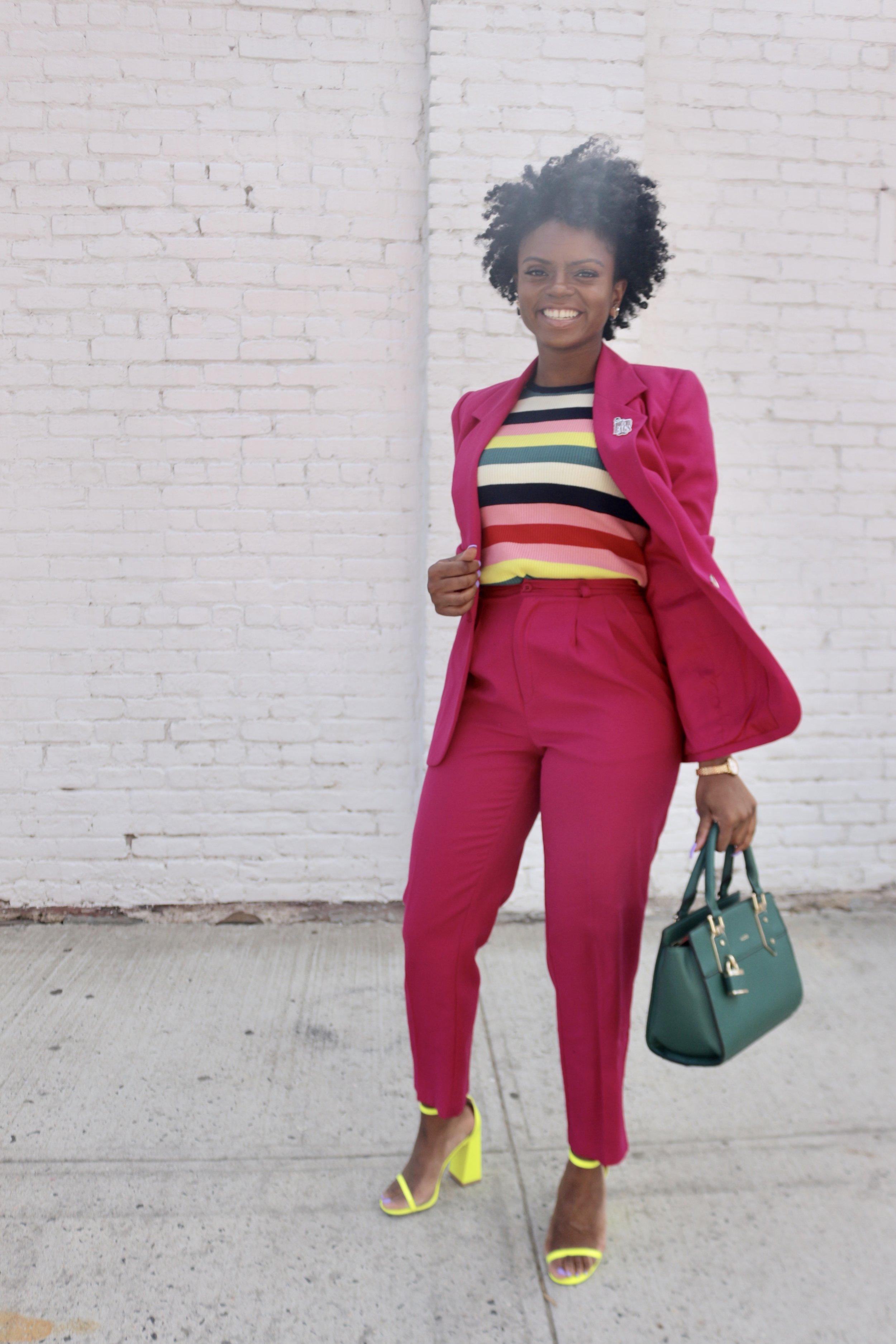 Suit: Thrifted  Shoes: EGO  Bag: Aldo
