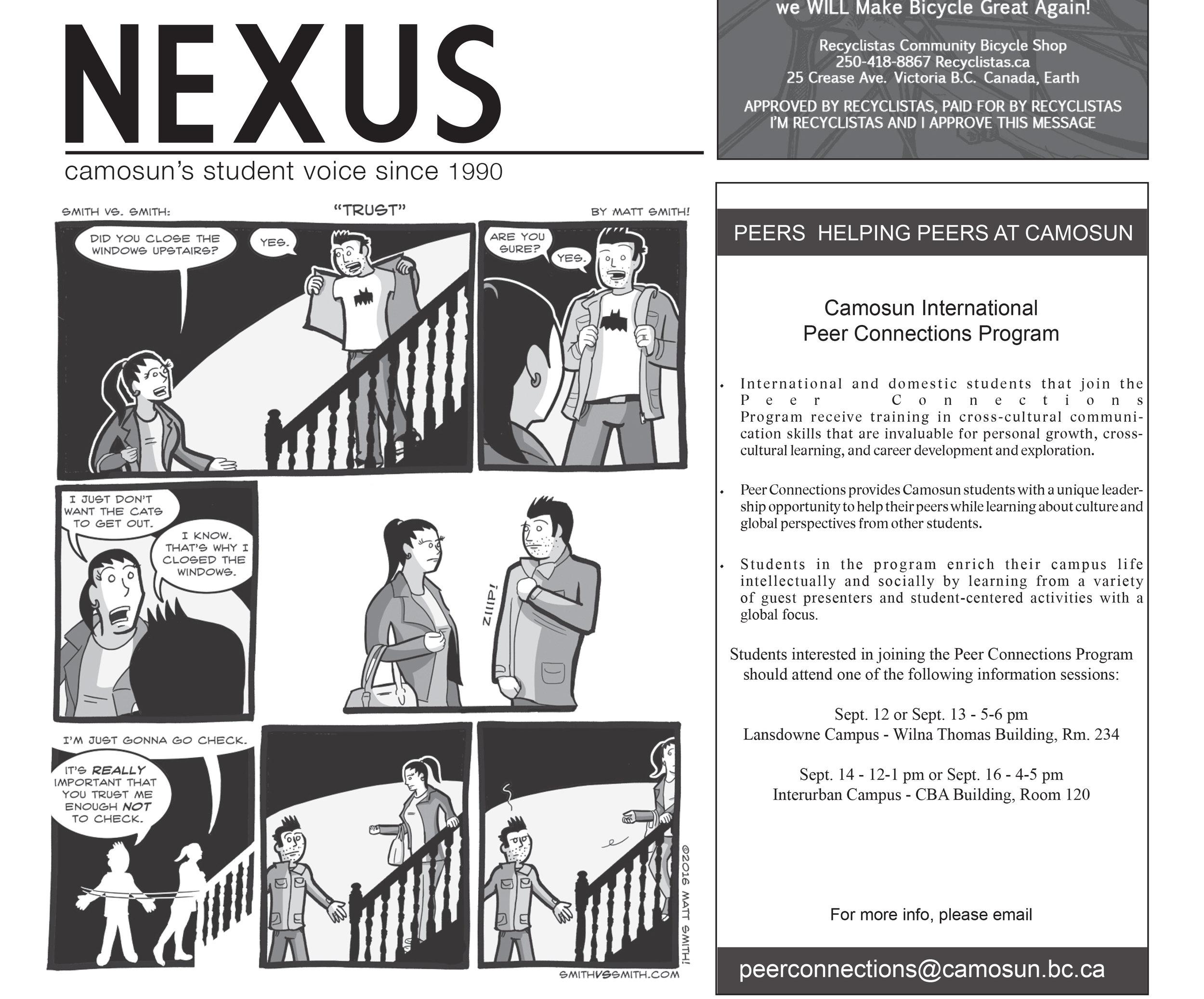 Comics in Nexus Newspaper