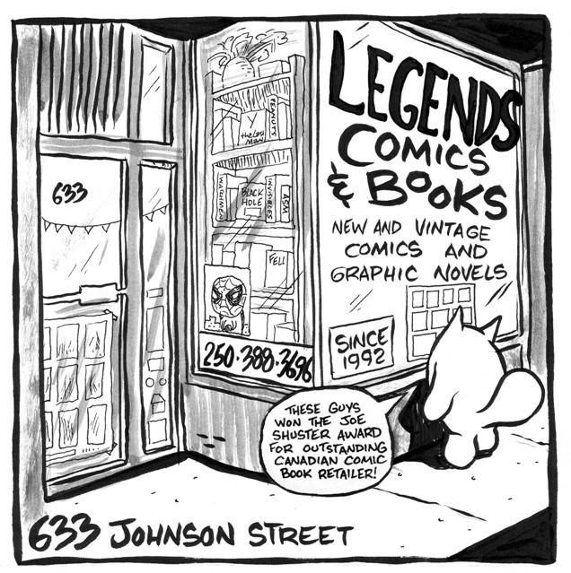 Legends Comics and Books - 633 Johnson Street, Victoria, BC, Canadalegendscomics@shaw.ca250-388-3696