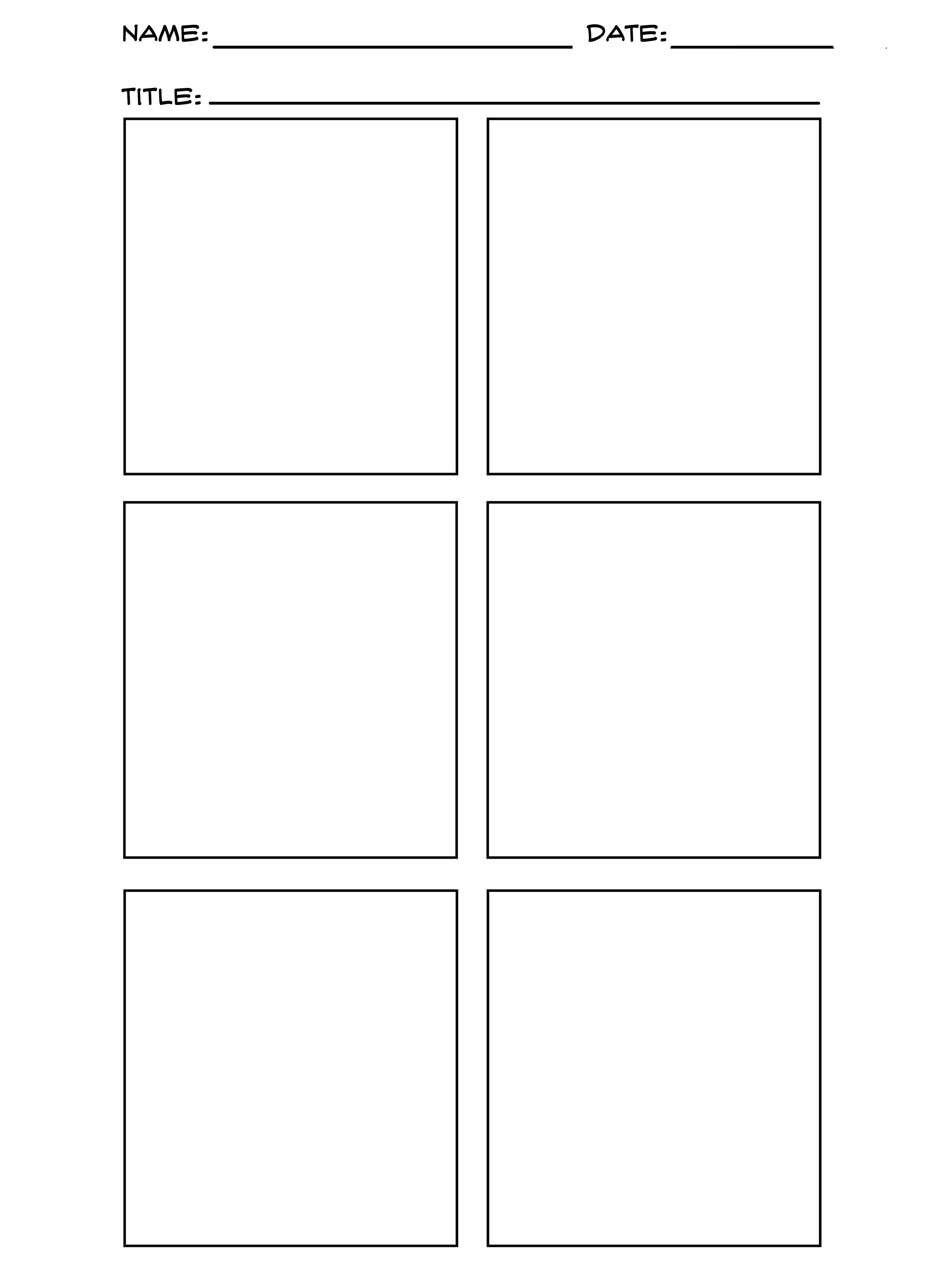 Blank comic page