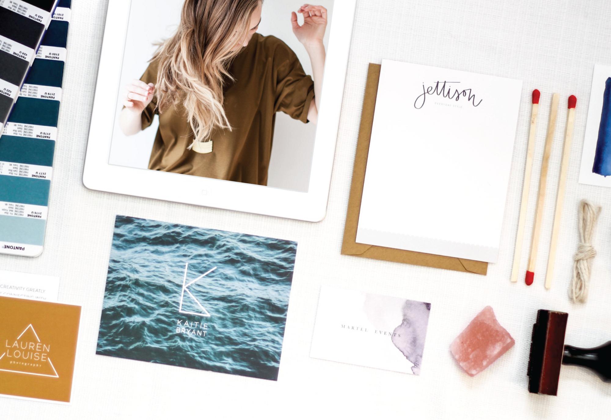 A collection of Mattie's gorgeous branding work