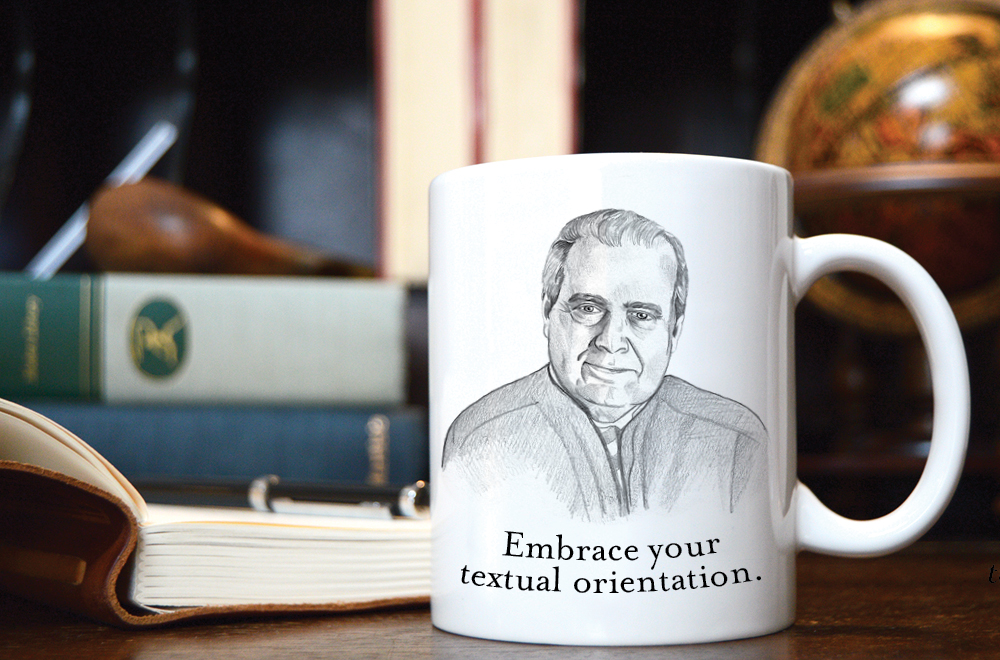 Here's our first SCOTUS Mug, dedicated to Justice Scalia! Have you  ordered yours  yet? Our first presale ends tomorrow, so do it! :)