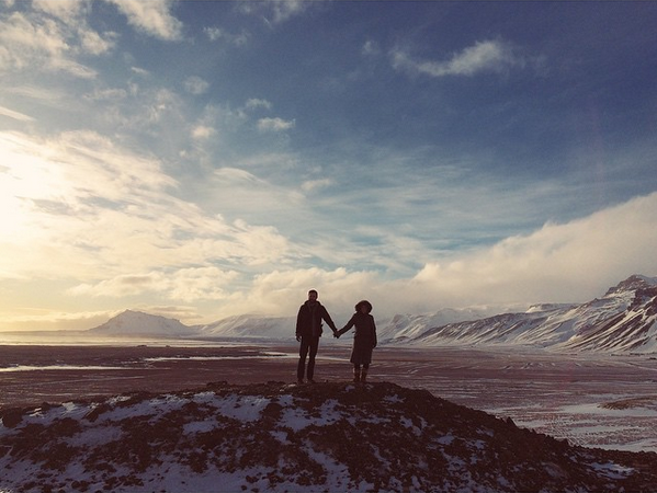 Seth and his lovely wife, Julie. In ICELAND.