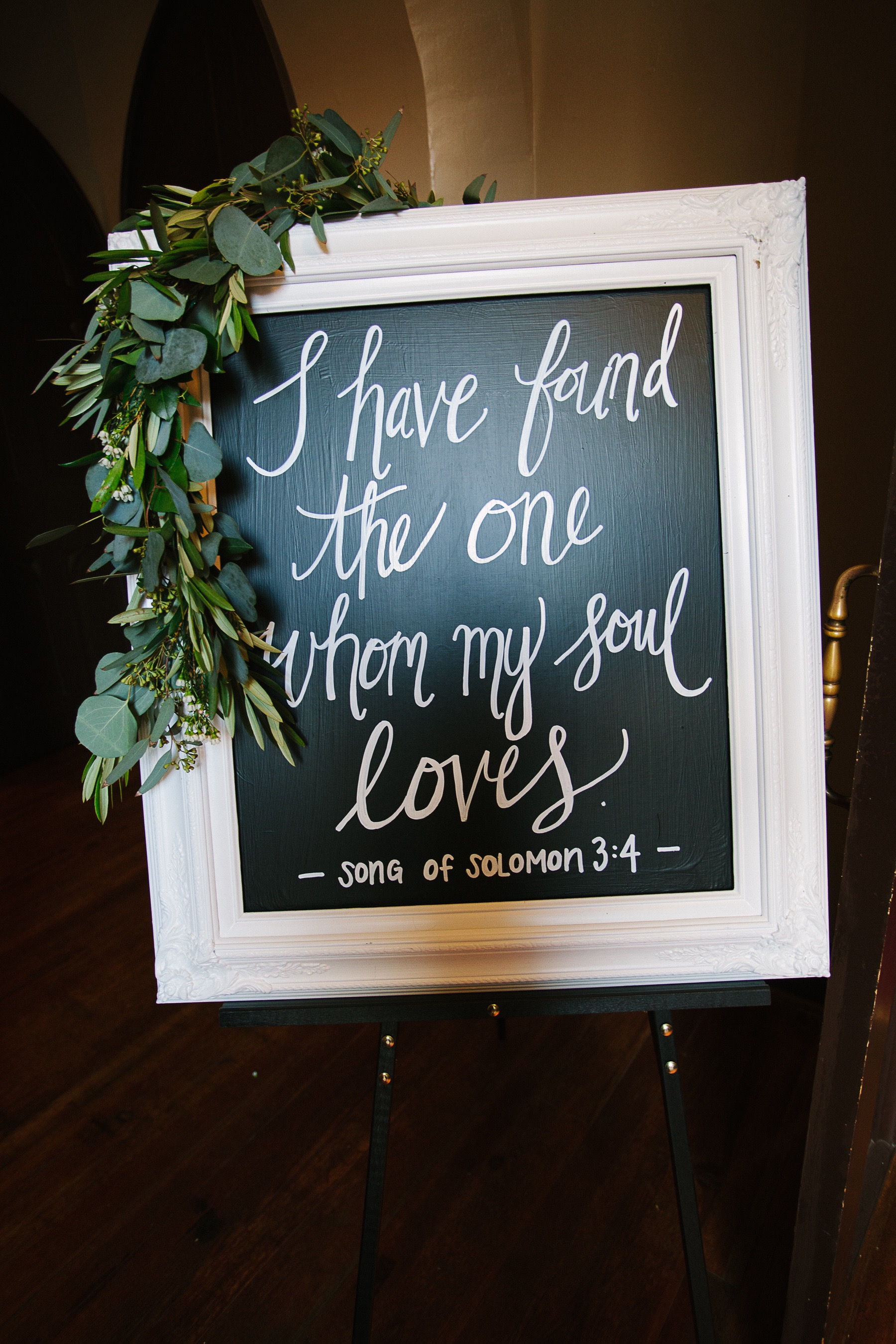"A beautiful ""word thing"" from Steph and Tom's wedding. :)"