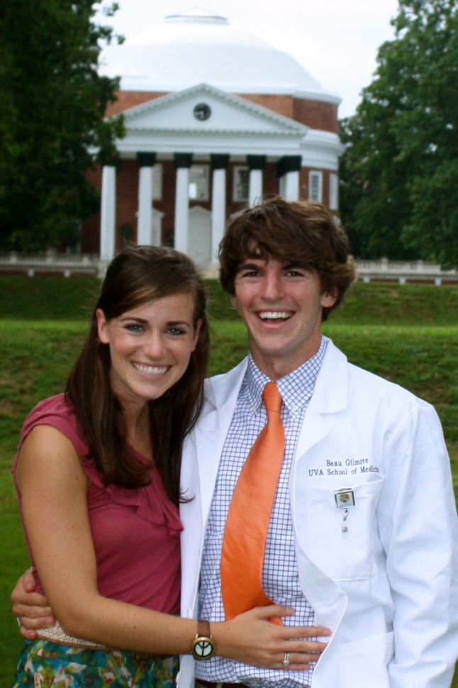 Back where it all began: Beau's white coat ceremony in 2010.
