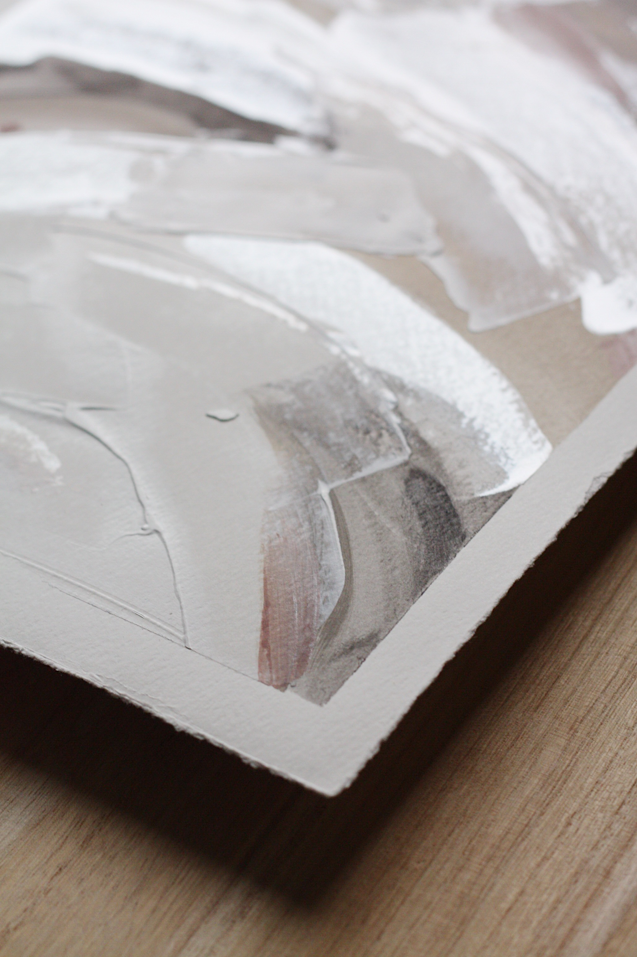 Lindsay Gilmore Original Abstract Art Constraints Series Sand Storm details 11x14 on paper.JPG