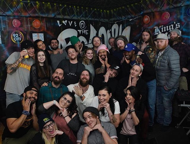 Group shot of the whole crew from Wednesday night. Rate our cuteness from 1-10 below 😅  Thank you for the great memories!! Be sure to head over to @wearethevillageidiots for the full footage.  You can catch us again live next week on Dec 20th at @thatgoodwill with the @amadians. Super excited to be  a part of that show 😁