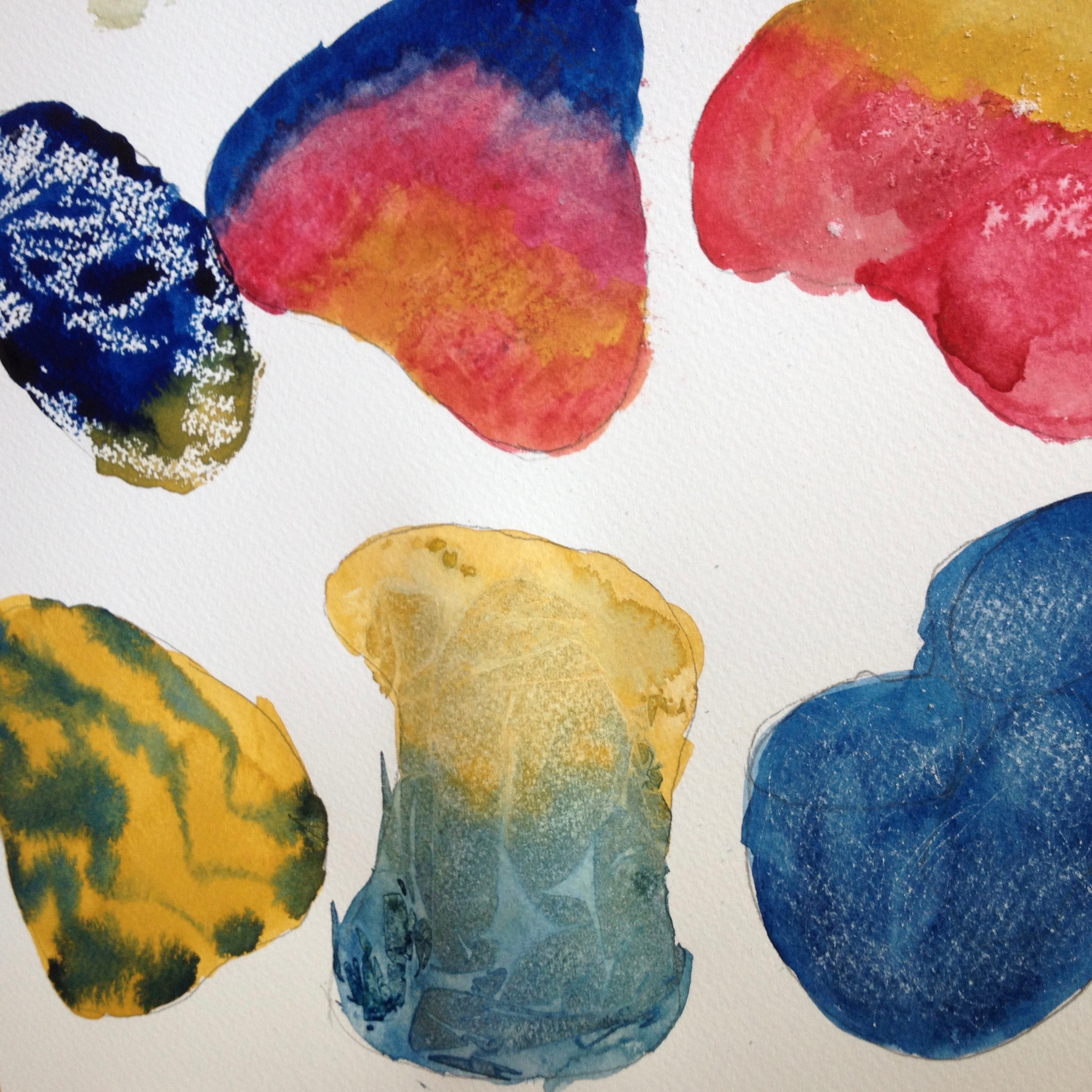 Watercolour Stones