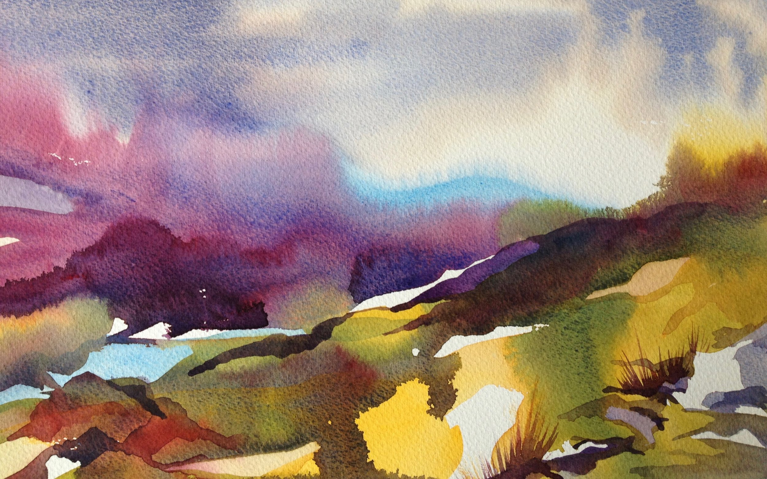 Frances Douglas watercolour painting Rob Roy Way Hills .jpg